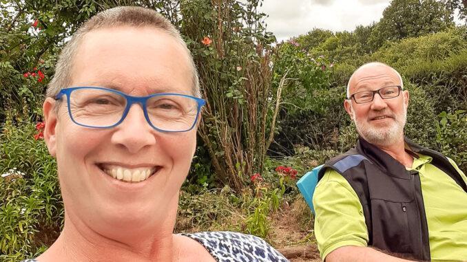 Silvia Wigger mit ihrem Mann Peter. Foto: Silvia Wigger