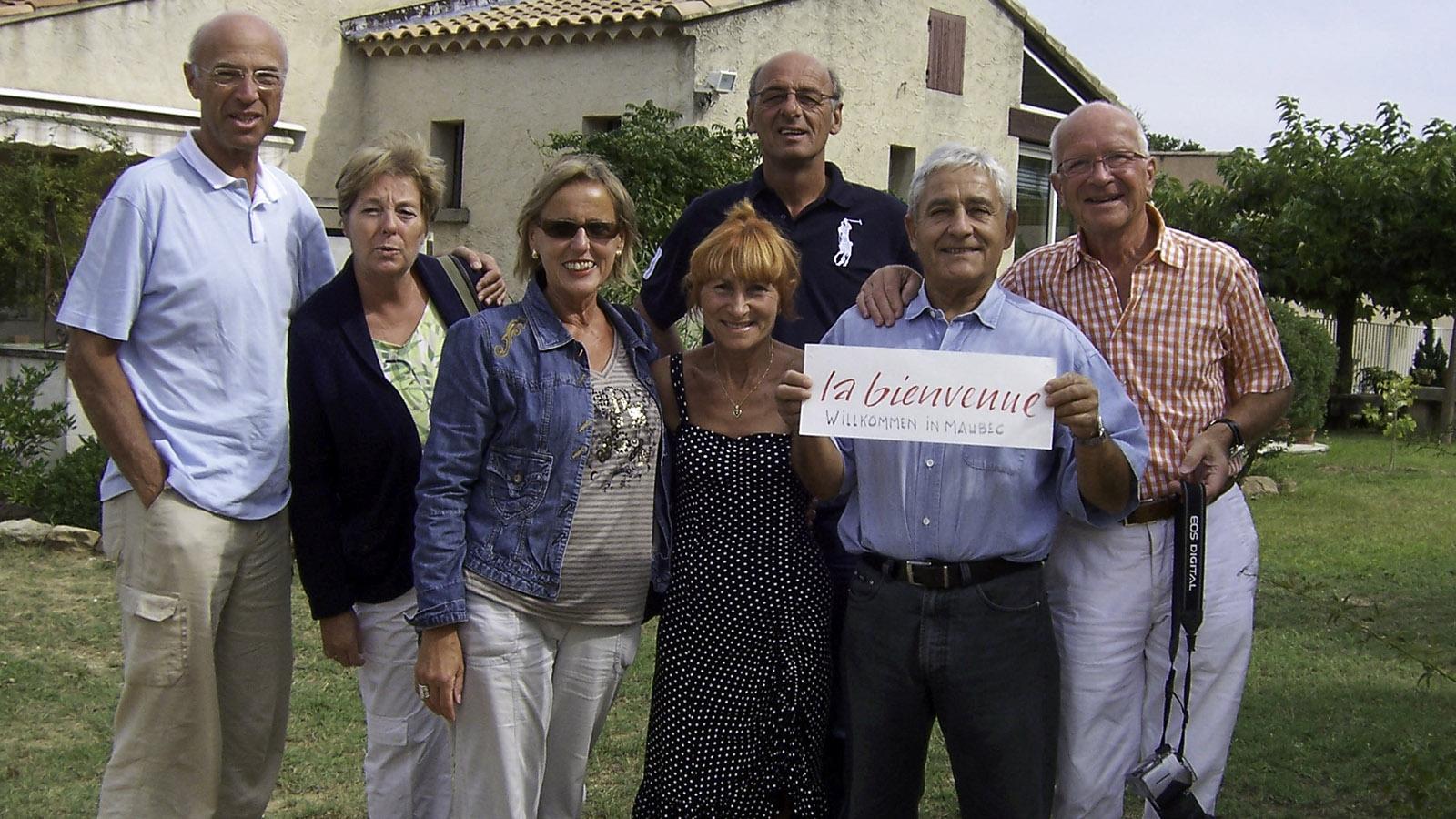 Mit unseren französischen Freunden Michel und René. Foto: Karl-Heinz Stabel