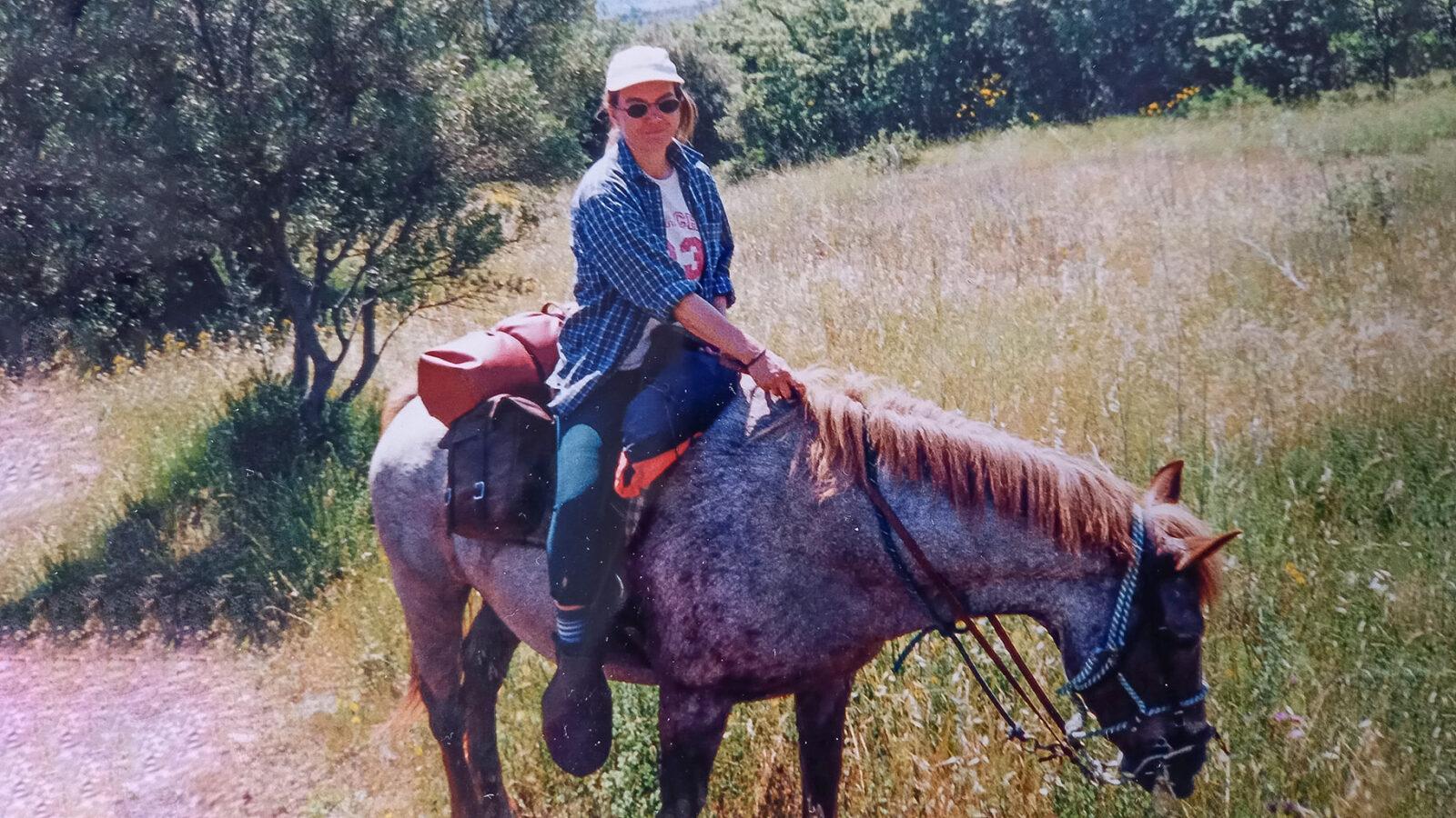 Susanne Knechtges 2002 am Lac de Salagou. Foto: privat