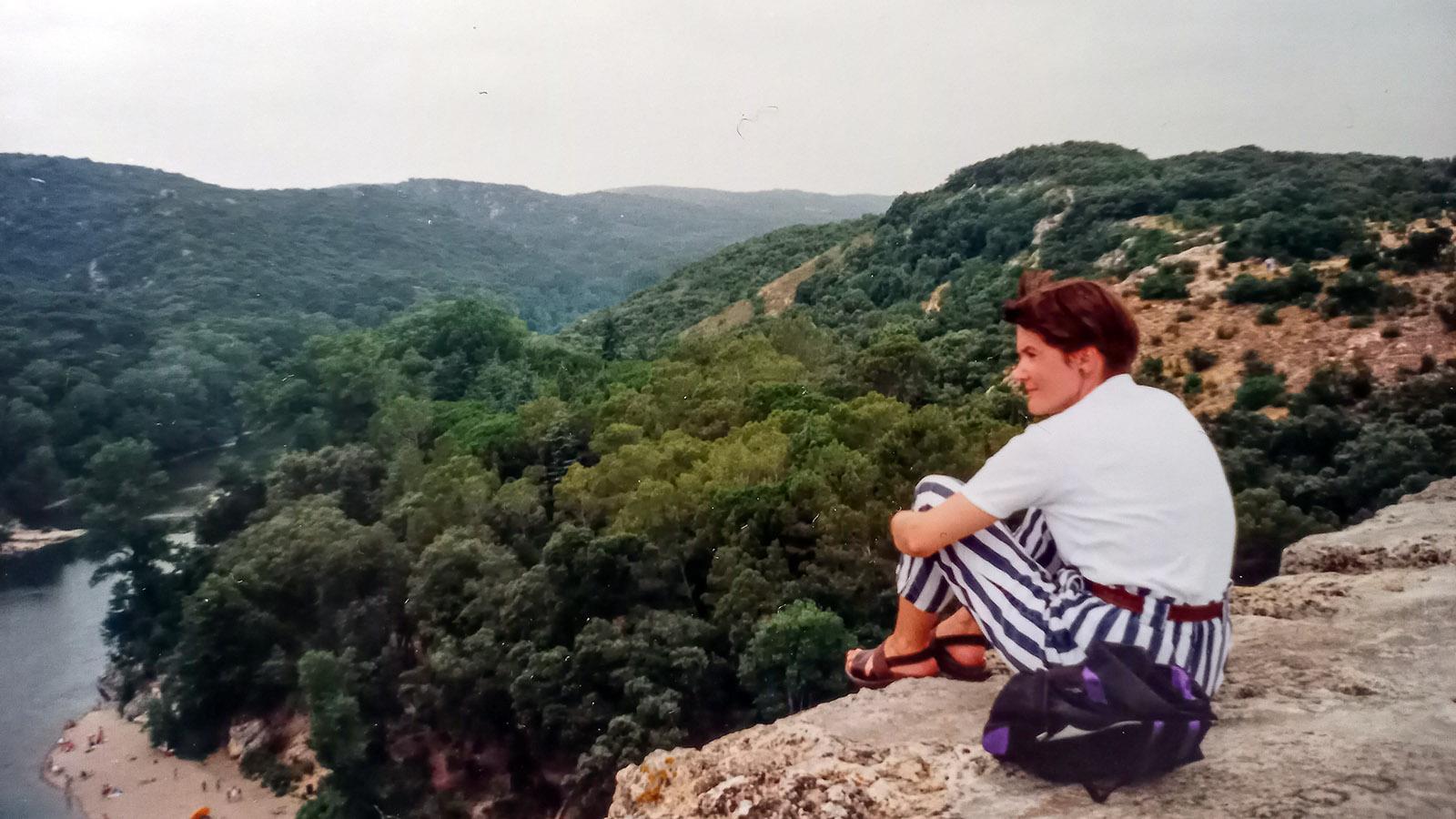 Susanne Knechtges am Pont du Gard. Foto: privat