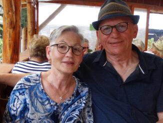 Brigitte Schober mit ihrem Mann. Foto: privat