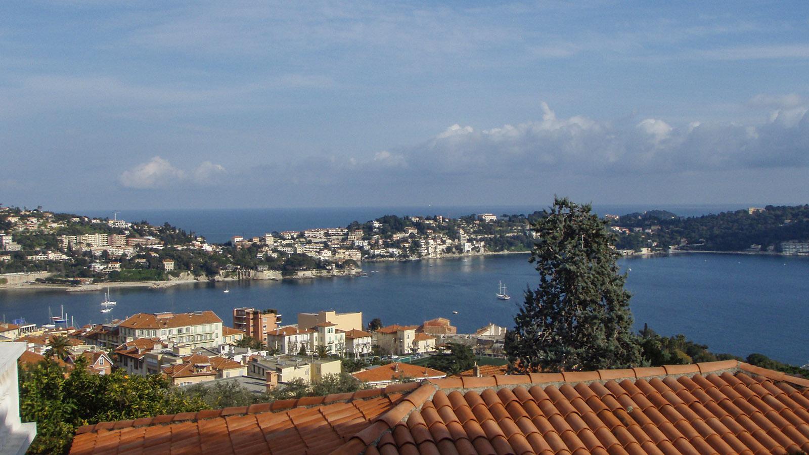 Die Aussicht von meinem Appartement auf Villefranche-sur-Mer- Foto: Kerstin Gorges.