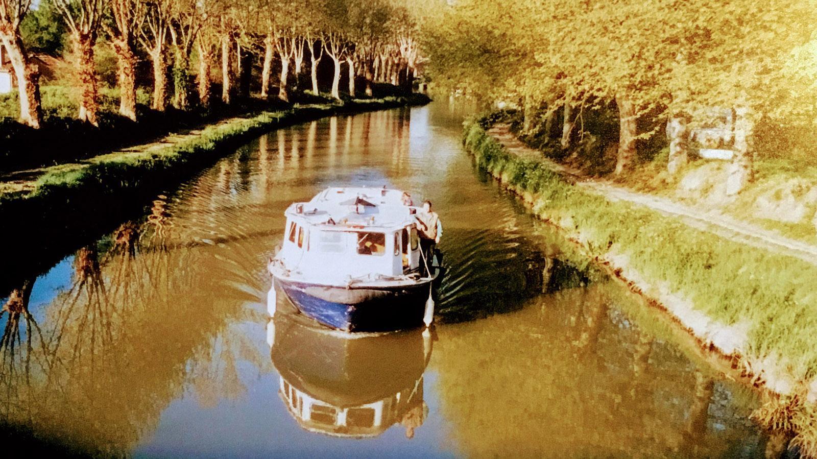 Mein Boot auf dem Canal du Midi. Foto: Leonore Ander ?