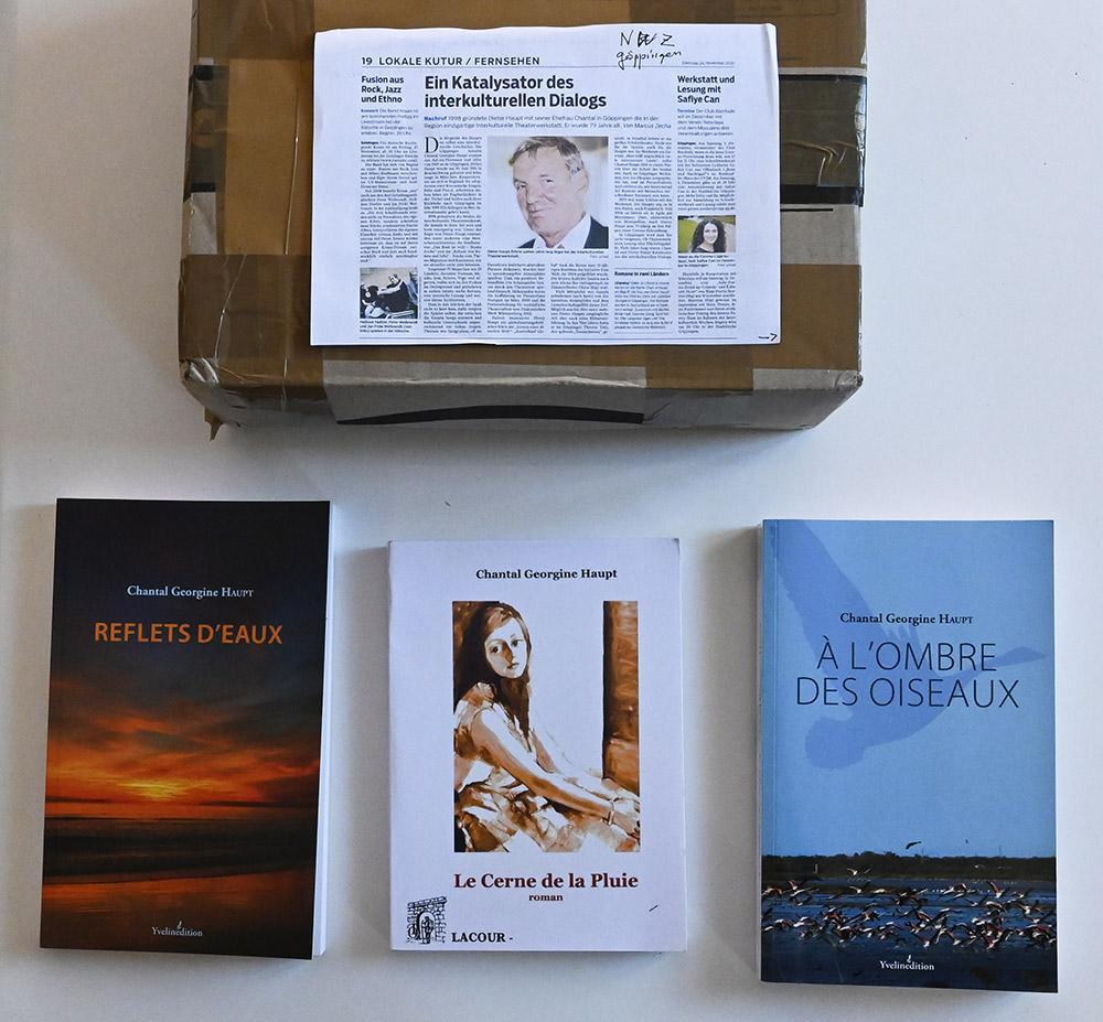 Einige Bücher von Chantal Georgine Haupt. Foto: Hilke Maunder