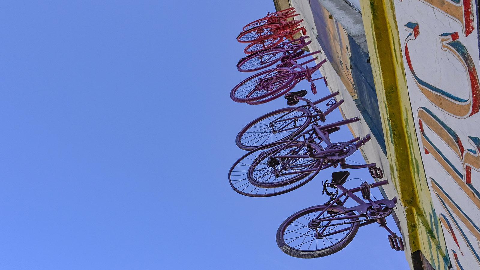 Street Art Nîmes, Richelieu: Die Räder von Monsieur BMX