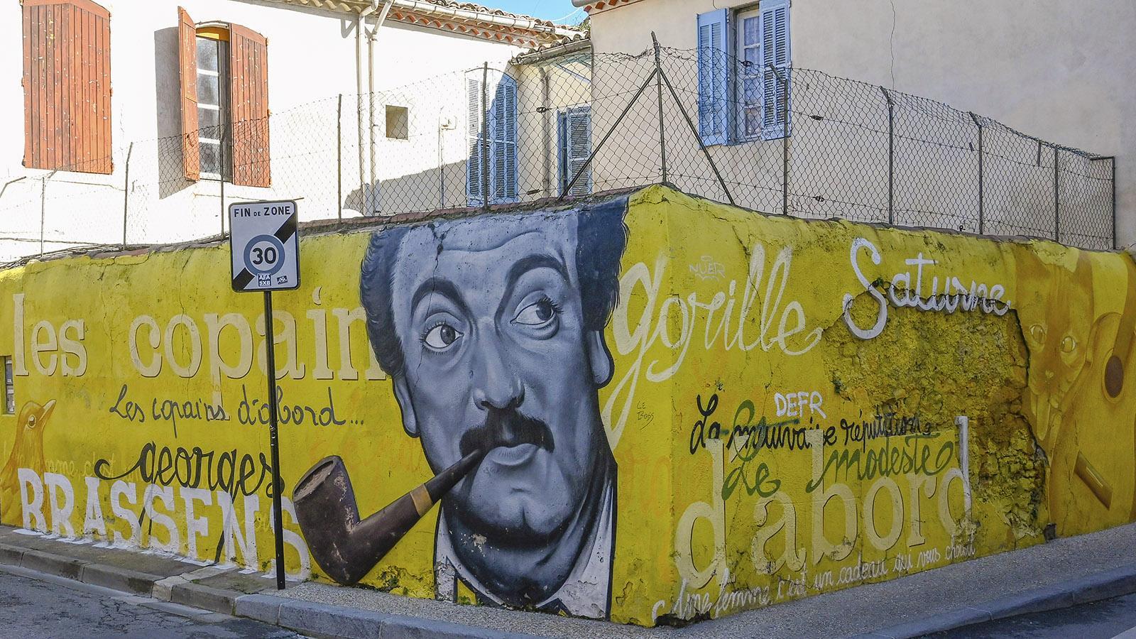 Les Copains d'abord: Georges Brassens in Richelieu. Foto: Hilke Maunder