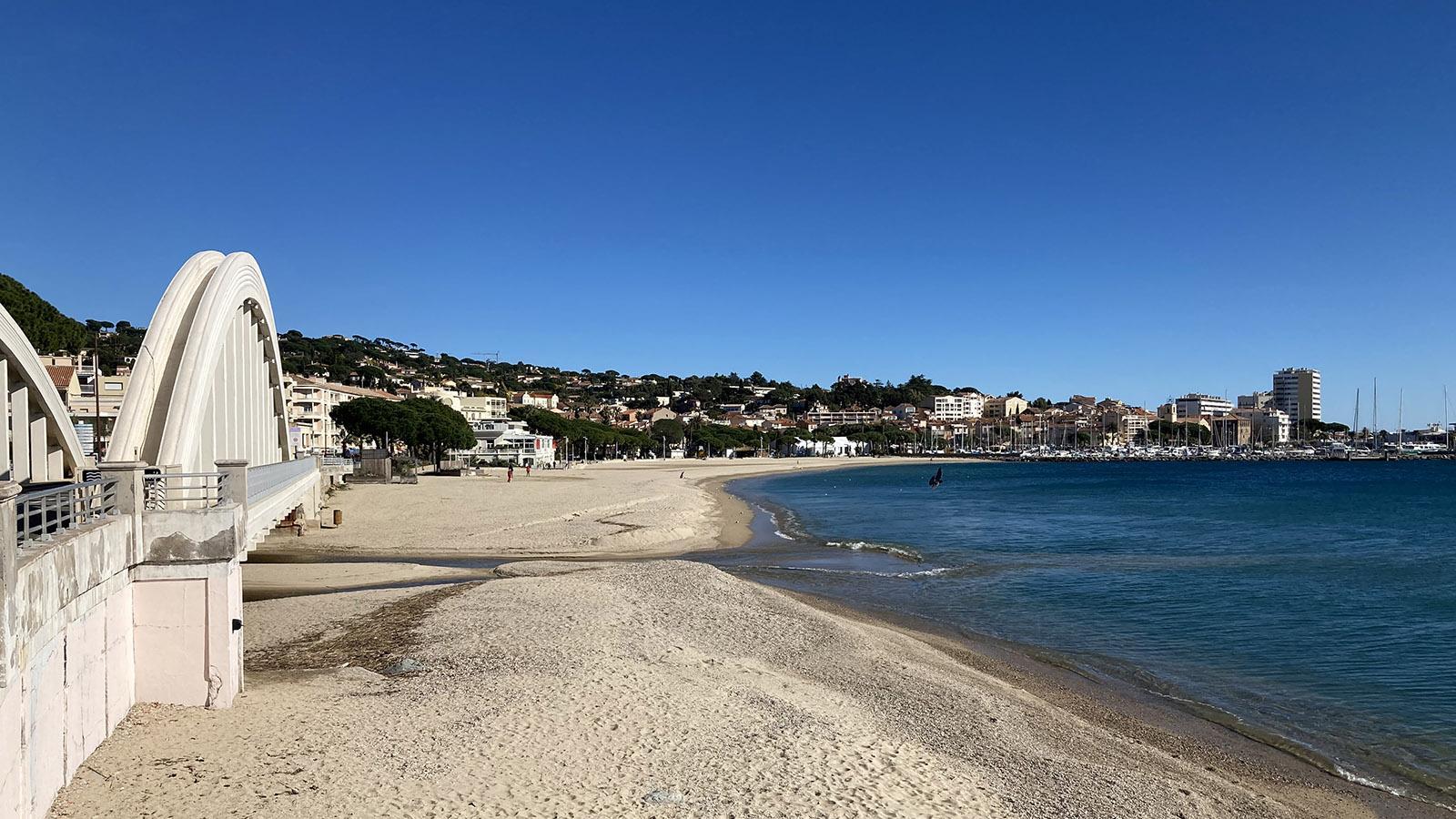 Der Stadtstrand von Sainte-Maxime. Foto: Walter Kellner