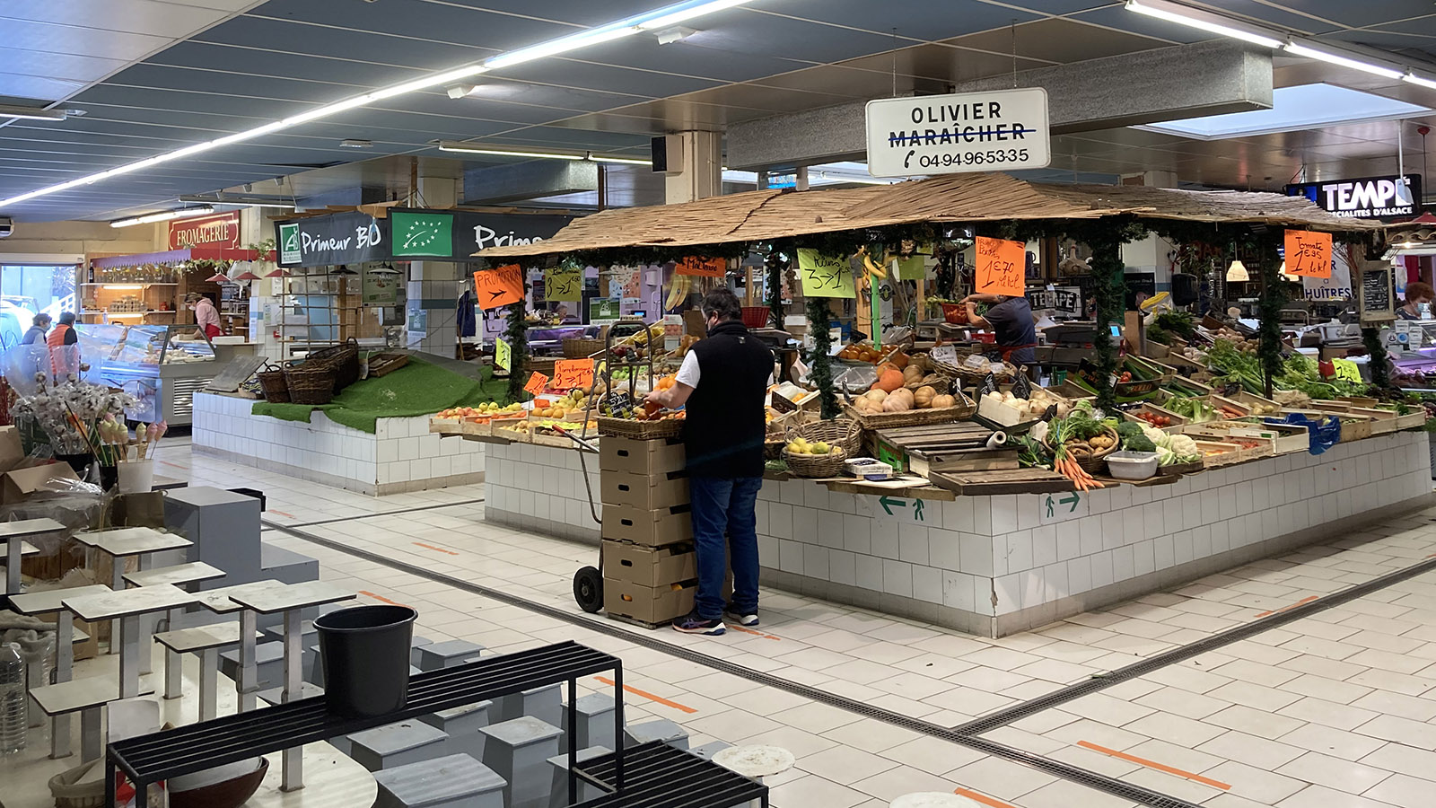 Sainte-Maxime: Markthalle. Foto: Walter Kellner