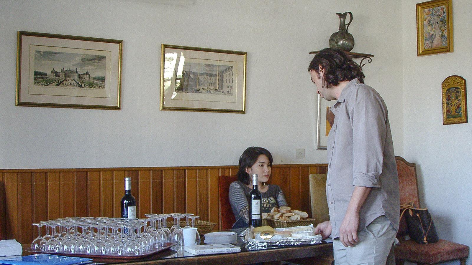 Eine Käseverkostung gehörte auch zur séance pratique. Foto: Kerstin Gorges.