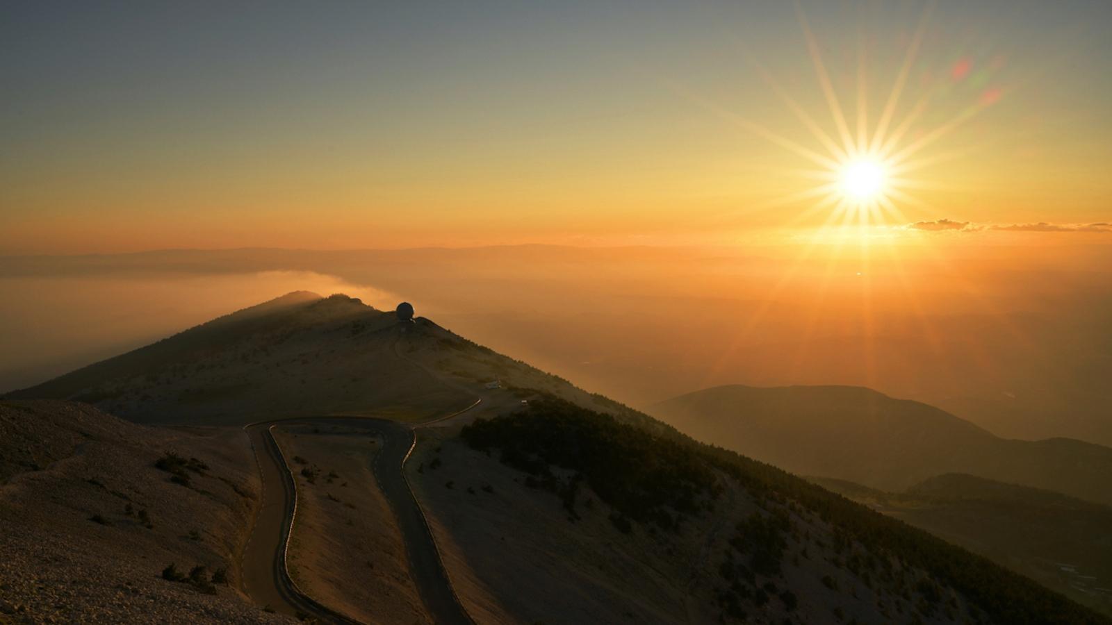 Sonnenuntergang am Mont Ventoux, Foto:?