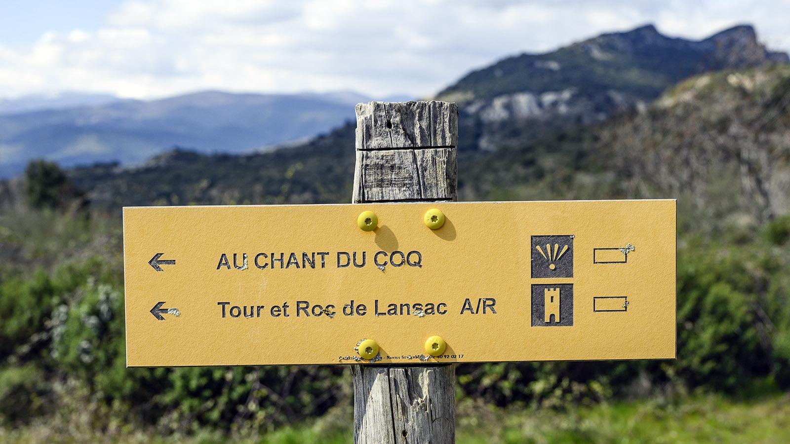 Lansac: So ist der Wanderweg ausgeschildert. Foto: Hilke Maunder