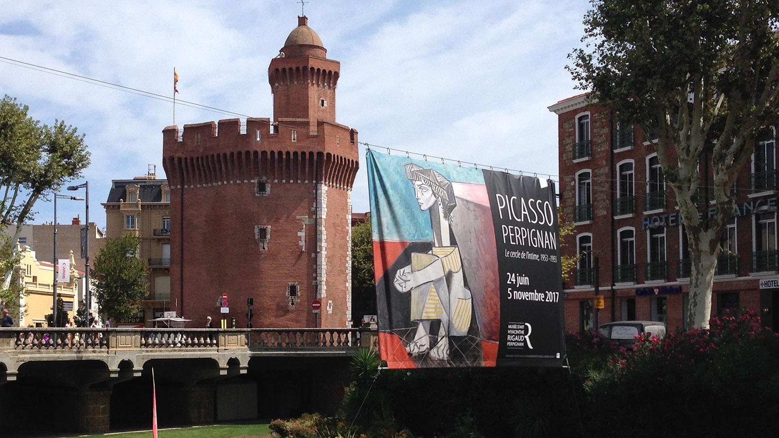 Perpignan mit seinem Castillet. Foto: Werner Bausem