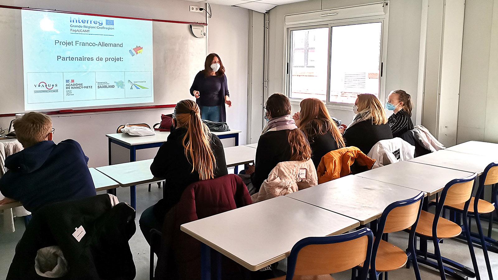 Eine Infoveranstaltung im Lycée Simon Lazard. Foto: FagA/CAMT