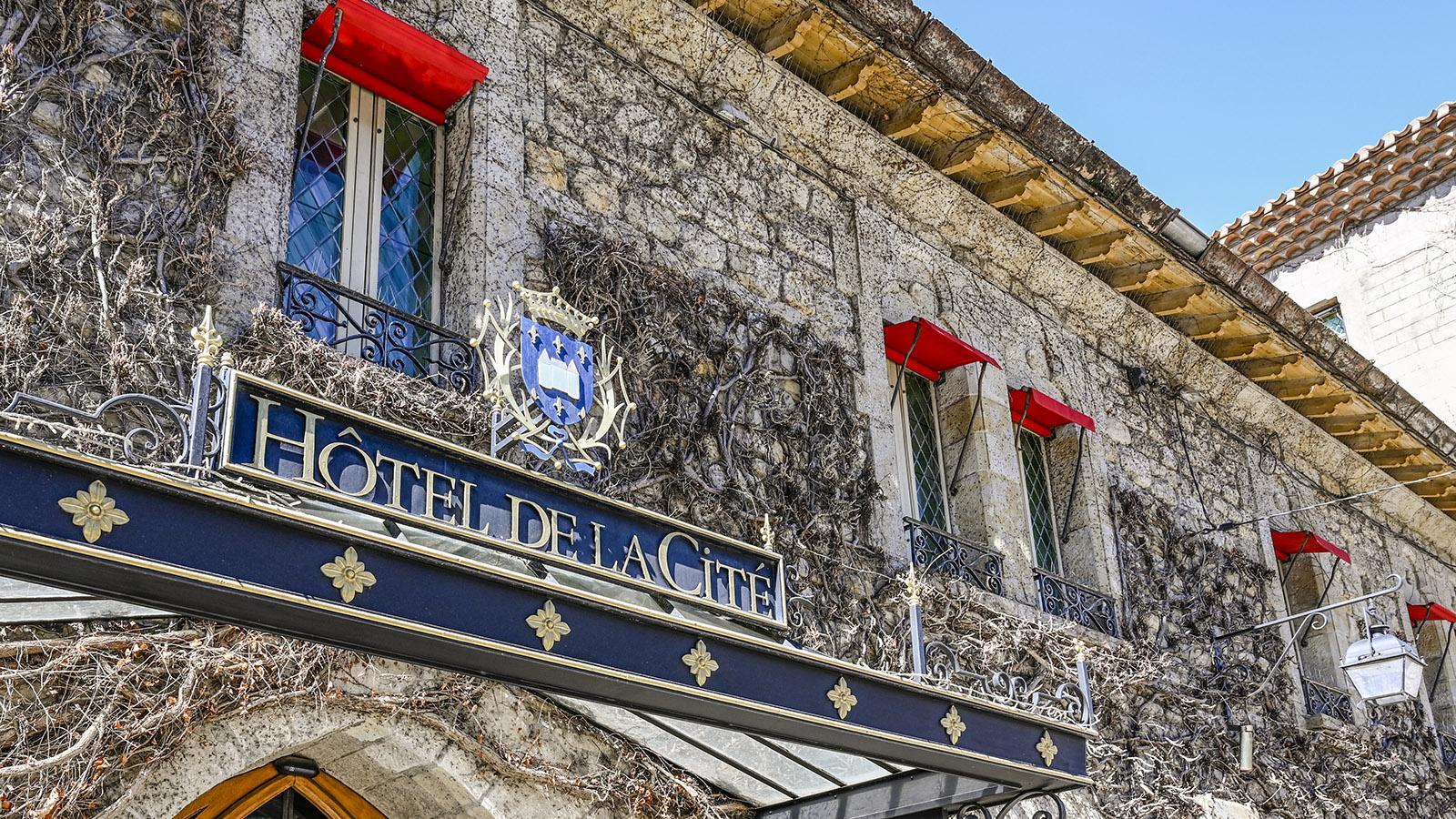 Carcassonne: Das Hôtel de la Cité. Foto: Hilke Maunder