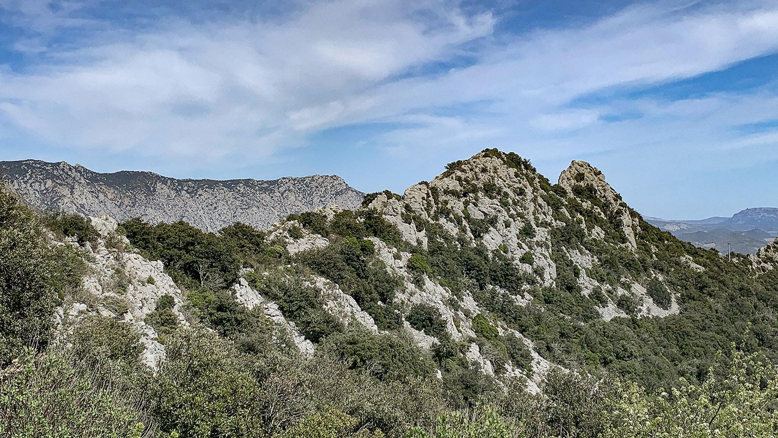 In diesen Kalksteinhängen steckt der Reichtum von Lesquerde. Foto: Hilke Maunder
