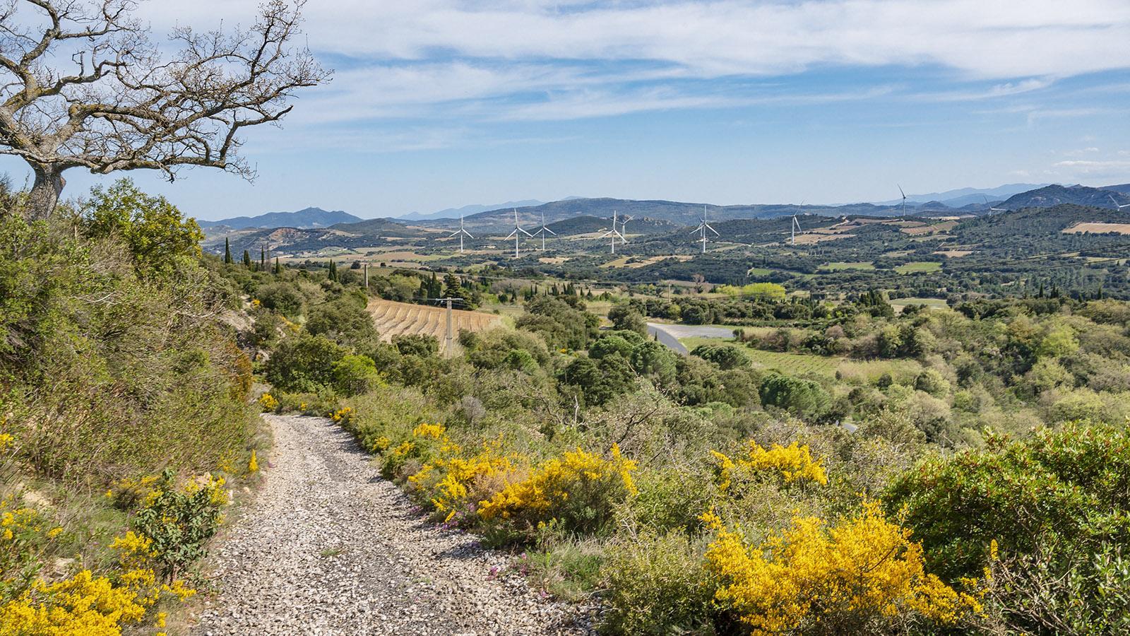 Der Blick vom Sentier des Mines gen Südosten. Foto: Hilke Maunder