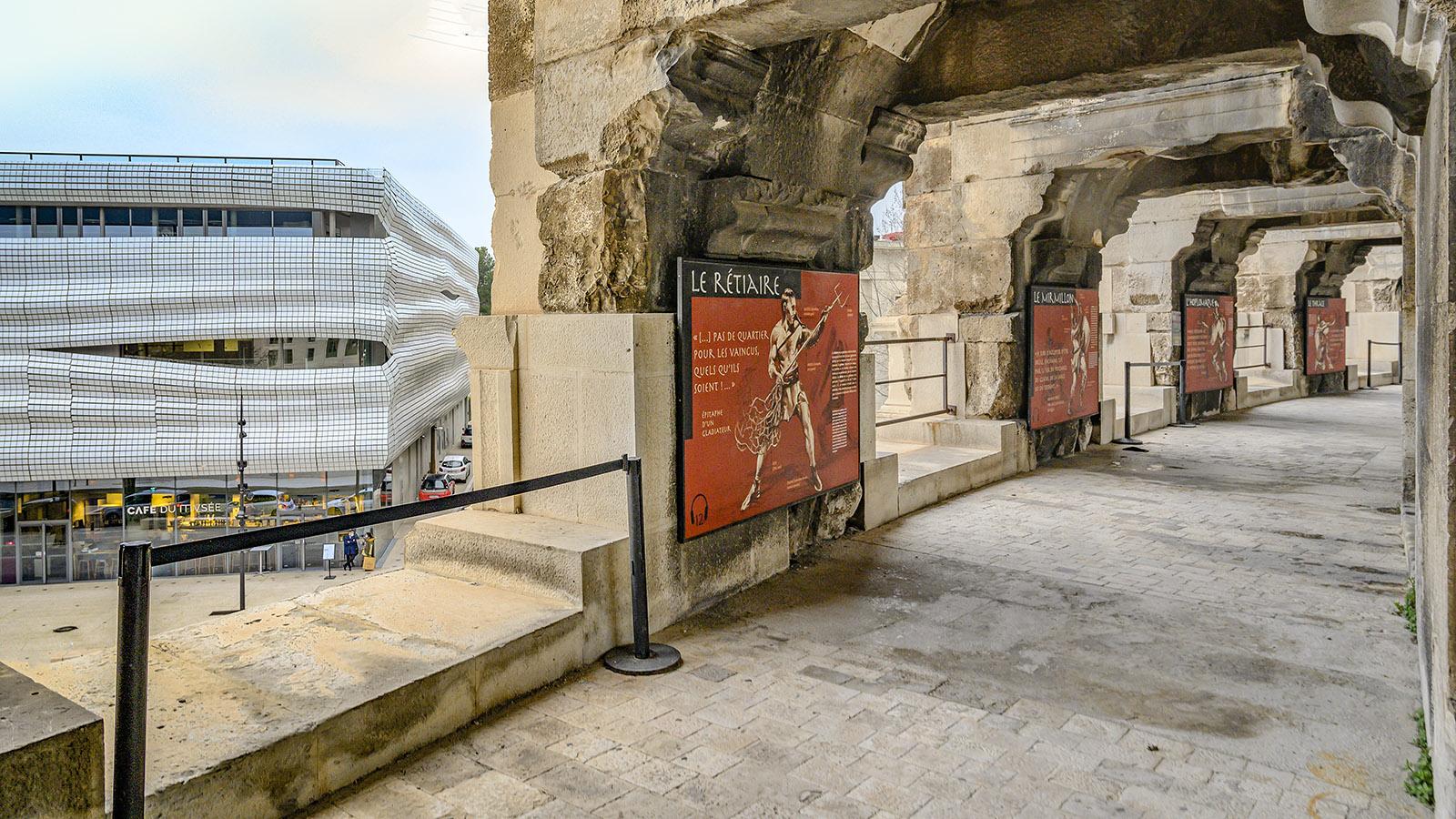 Wechselspiel von Antike und Gegenwart, Erbe und Aufbruch: das Musée de la Romanitüe und die Arenen. Foto: Hilke Maunder