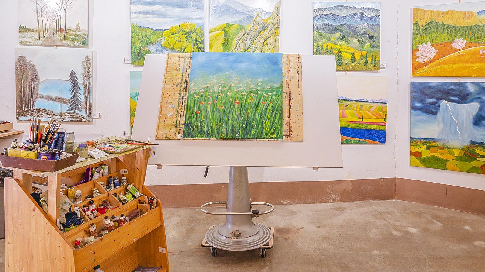 Das Atelier von Philippe Roitg in Saint-Paul-de-Fenouillet. Foto: Hilke Maunder