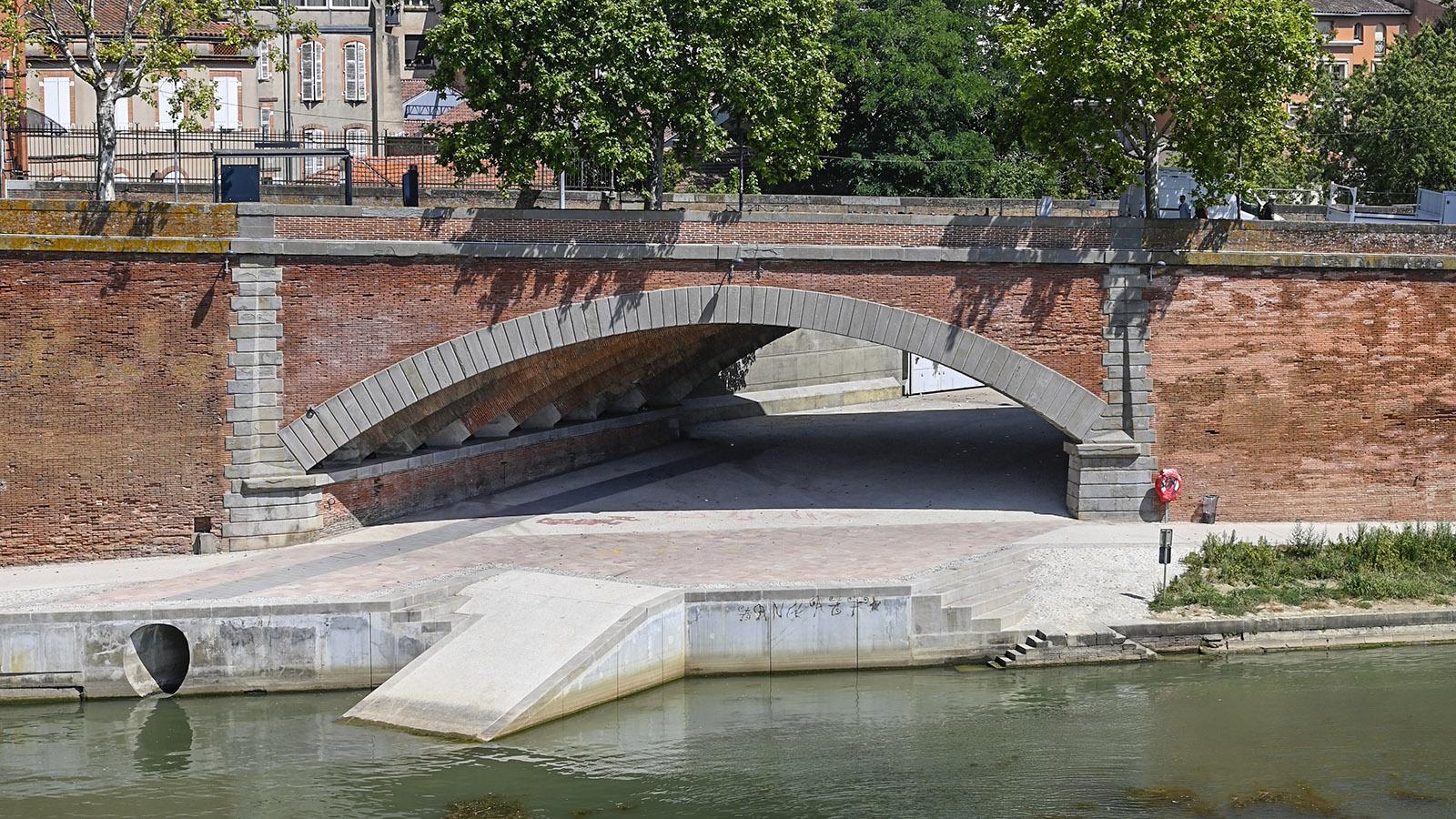 La Garonnette - hier mündete der Altarm einst in den Fluss. Foto: Hilke Maunder