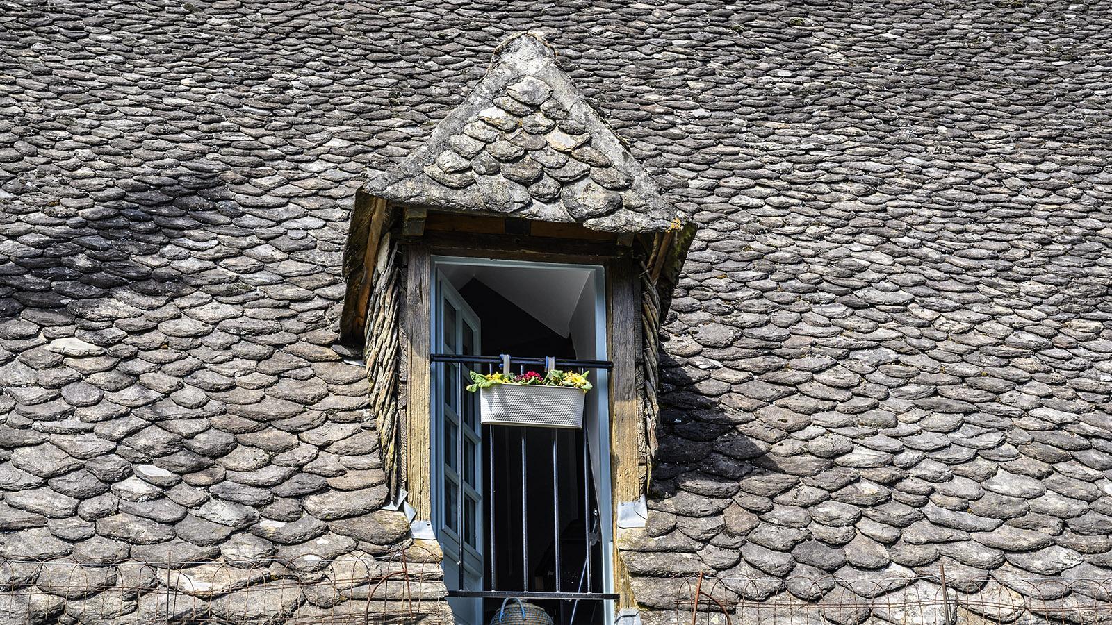 Ein mit lauze gedecktes Dach. Foto: Hilke Maunder