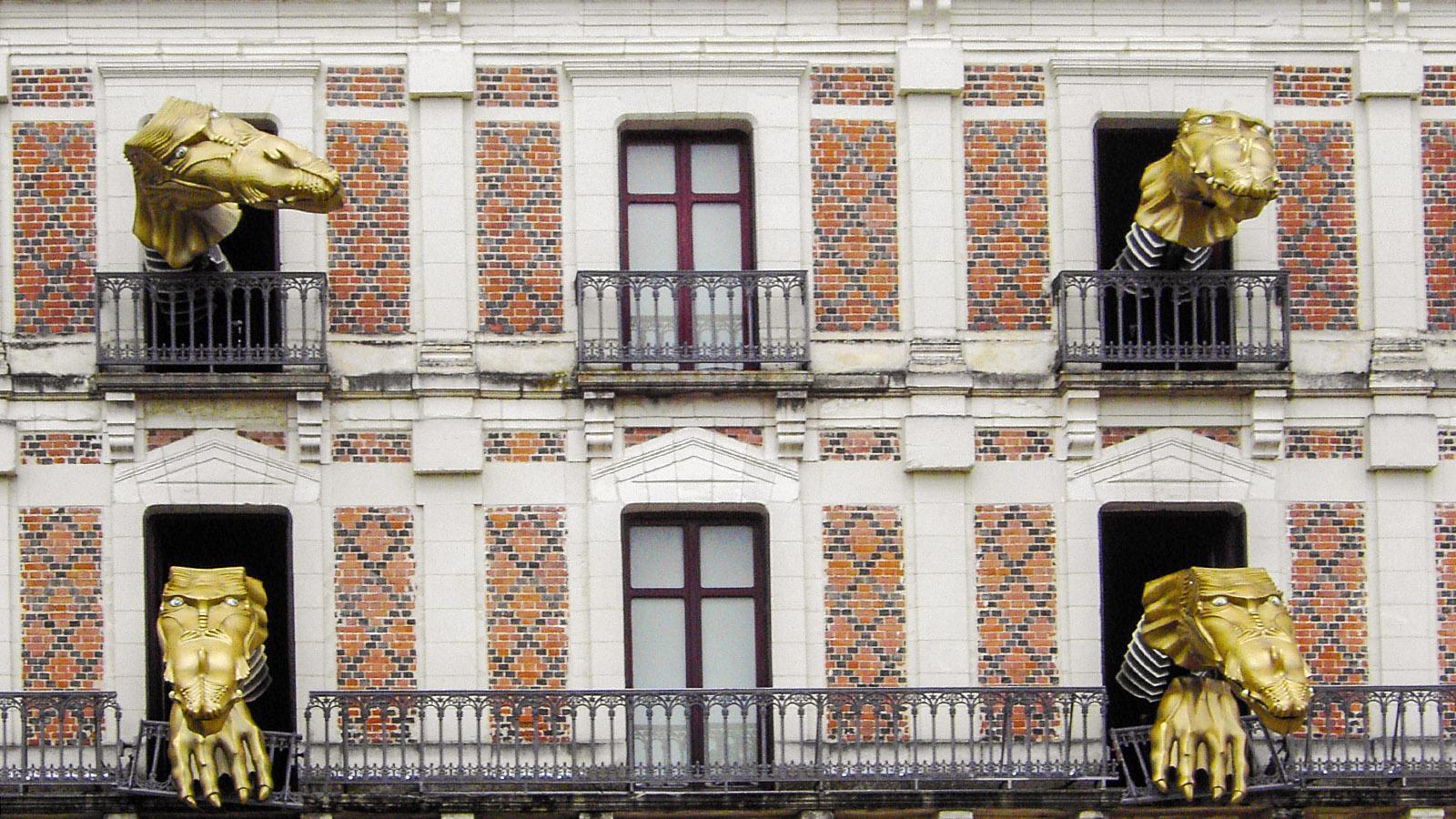 Blois: Der Schlossdrache. Foto: Huberta Jacobs