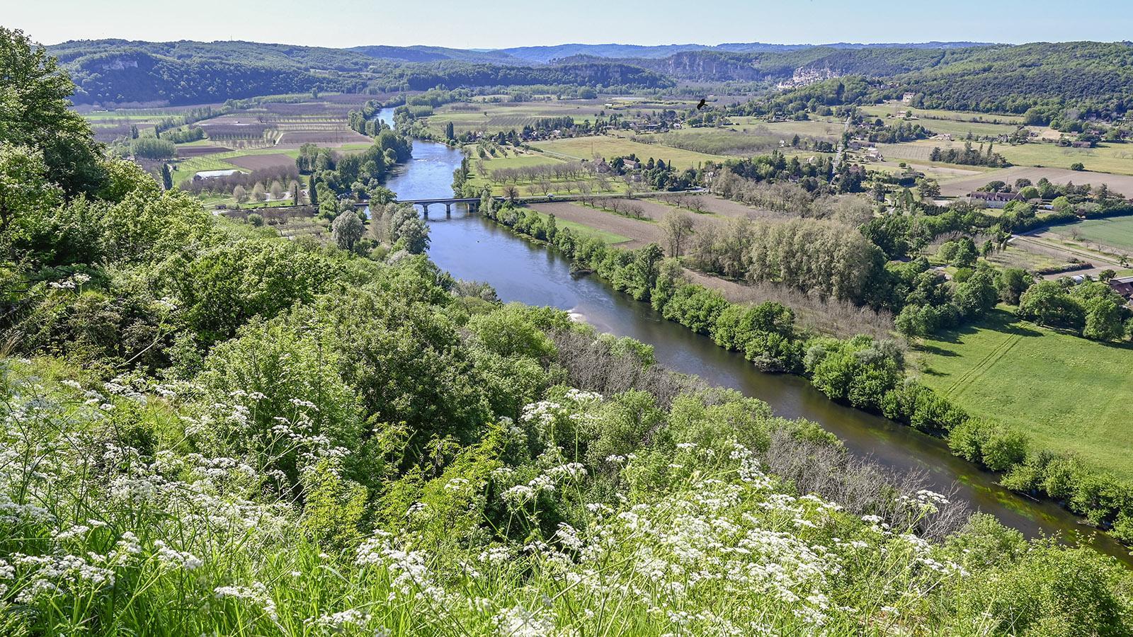 Paradeblick von der Bastide Domme auf die Dordogne. Foto: Hilke Maunder