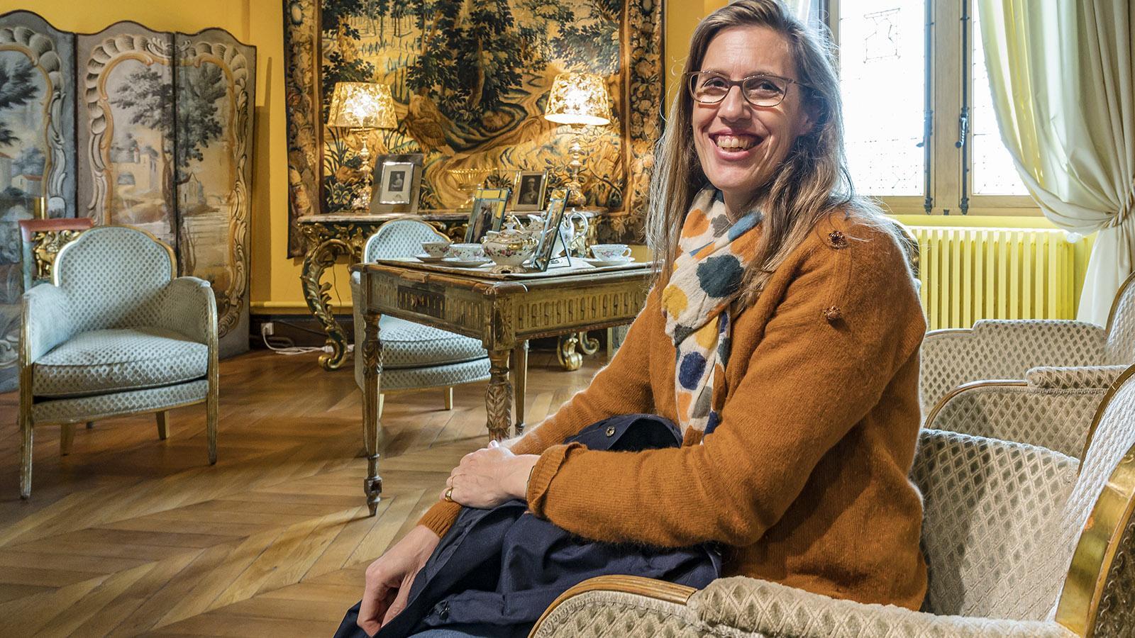 Angélique de Labarre vom Château des Milandes. Foto: Hilke Maunder