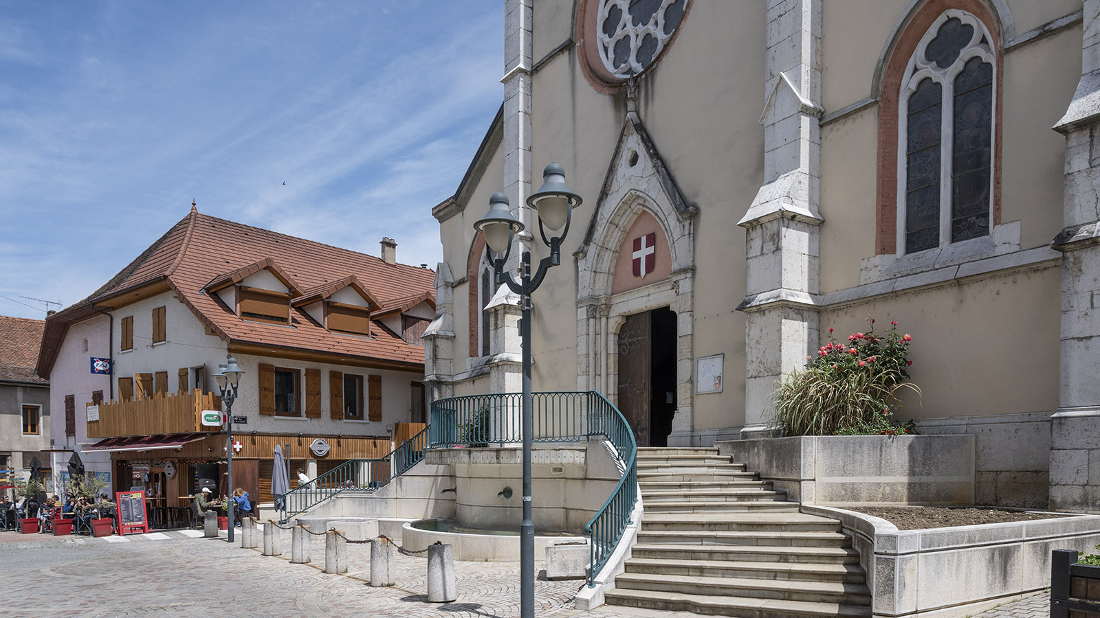 Im Ortszentrum von Saint-Genix. Foto: Hilke Maunder