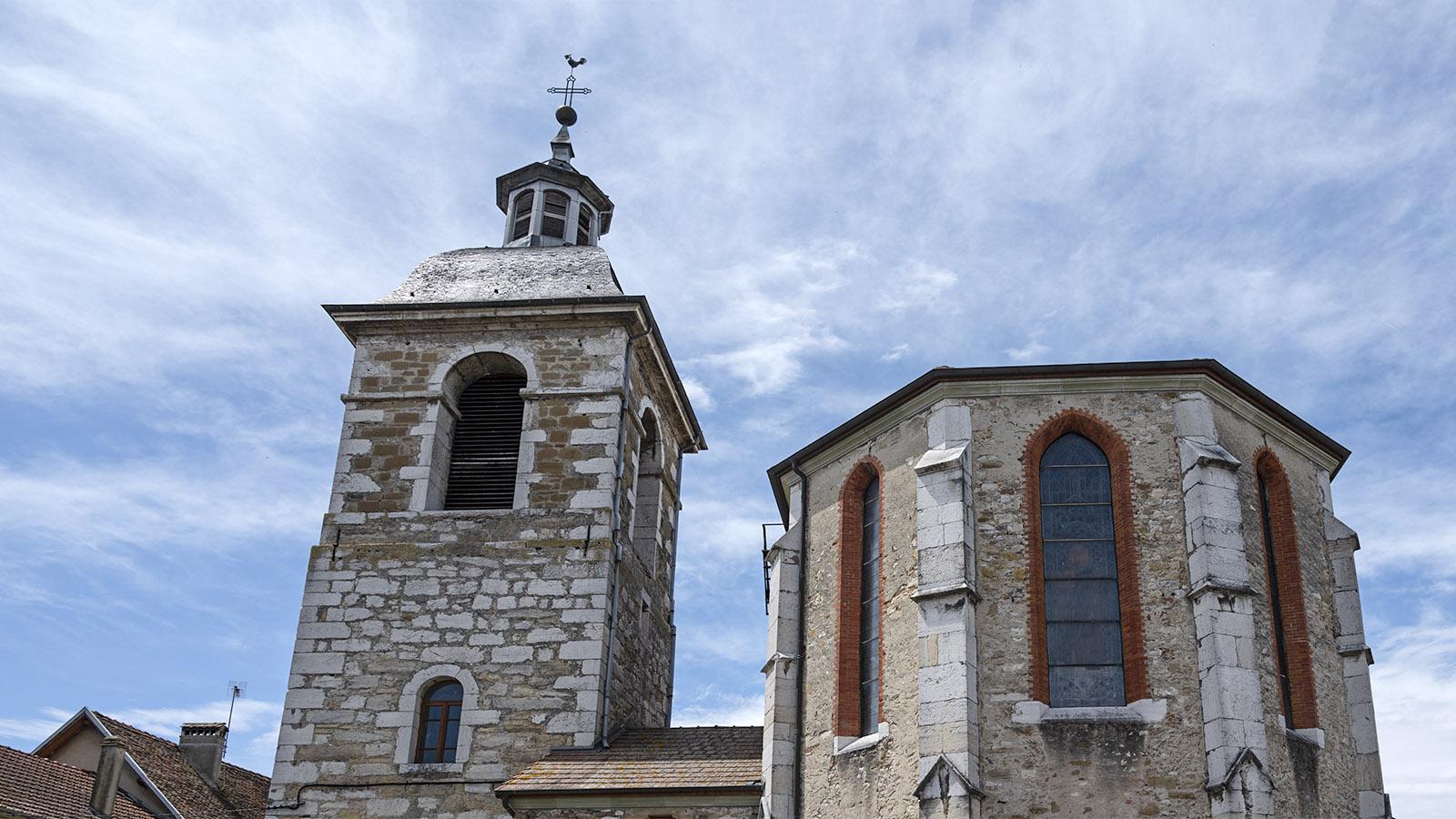 Die Pfarrkirche von Saint-Genix. Foto: Hilke Maunder