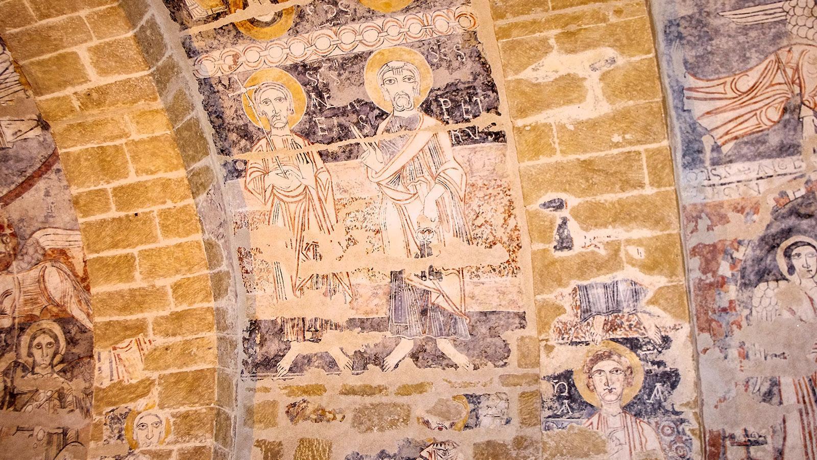 Die Fresken der Felsenkirche von Vals. Copyright:Agence Départementale du Tourisme Ariège-Pyrénées