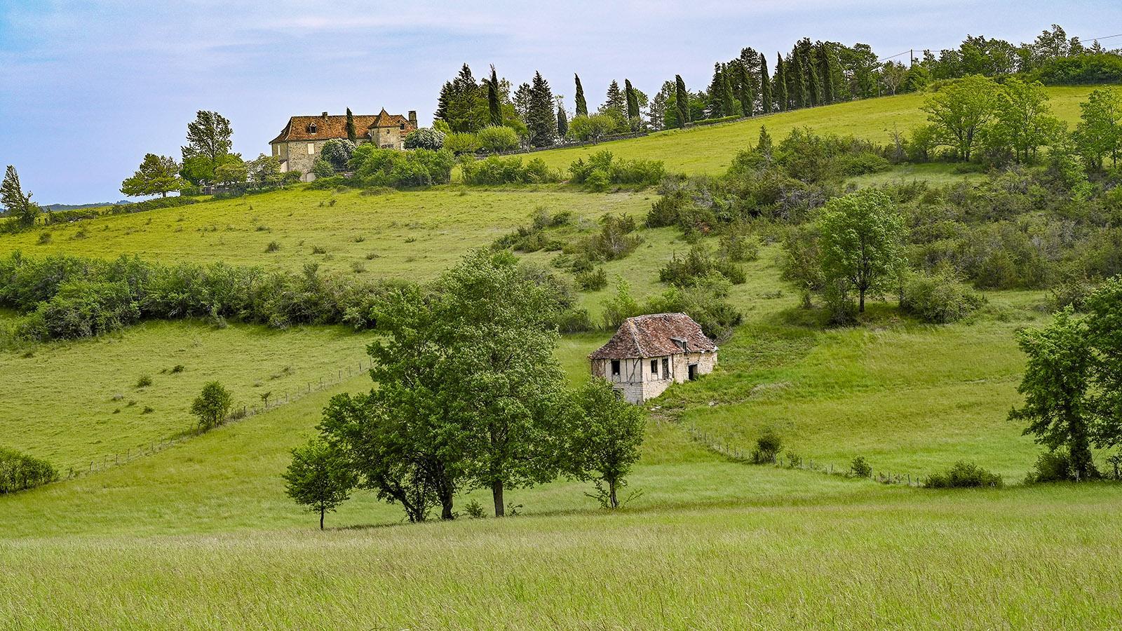Sanft gewellte Hügel und rustikale Natürlichkeit: die typische Landschaft der Basse Corrèze. Foto: Hilke Maunder