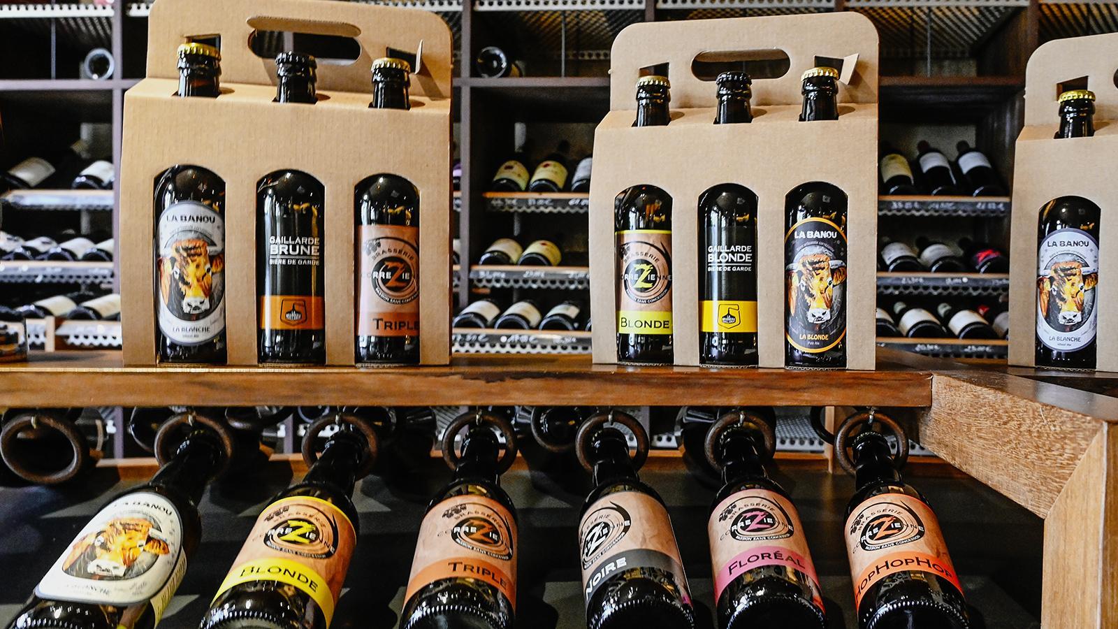 Eine Bierauswahl der Brasserie Gaillarde, wie sie in den Geschäften zu finden ist. Foto: Hilke Maunder