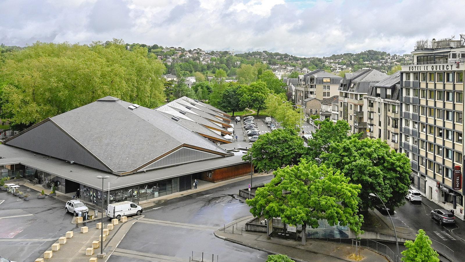 Brive-la-Gaillarde: Der Marché Georges Brassens von oben. Foto: Hilke Maunder