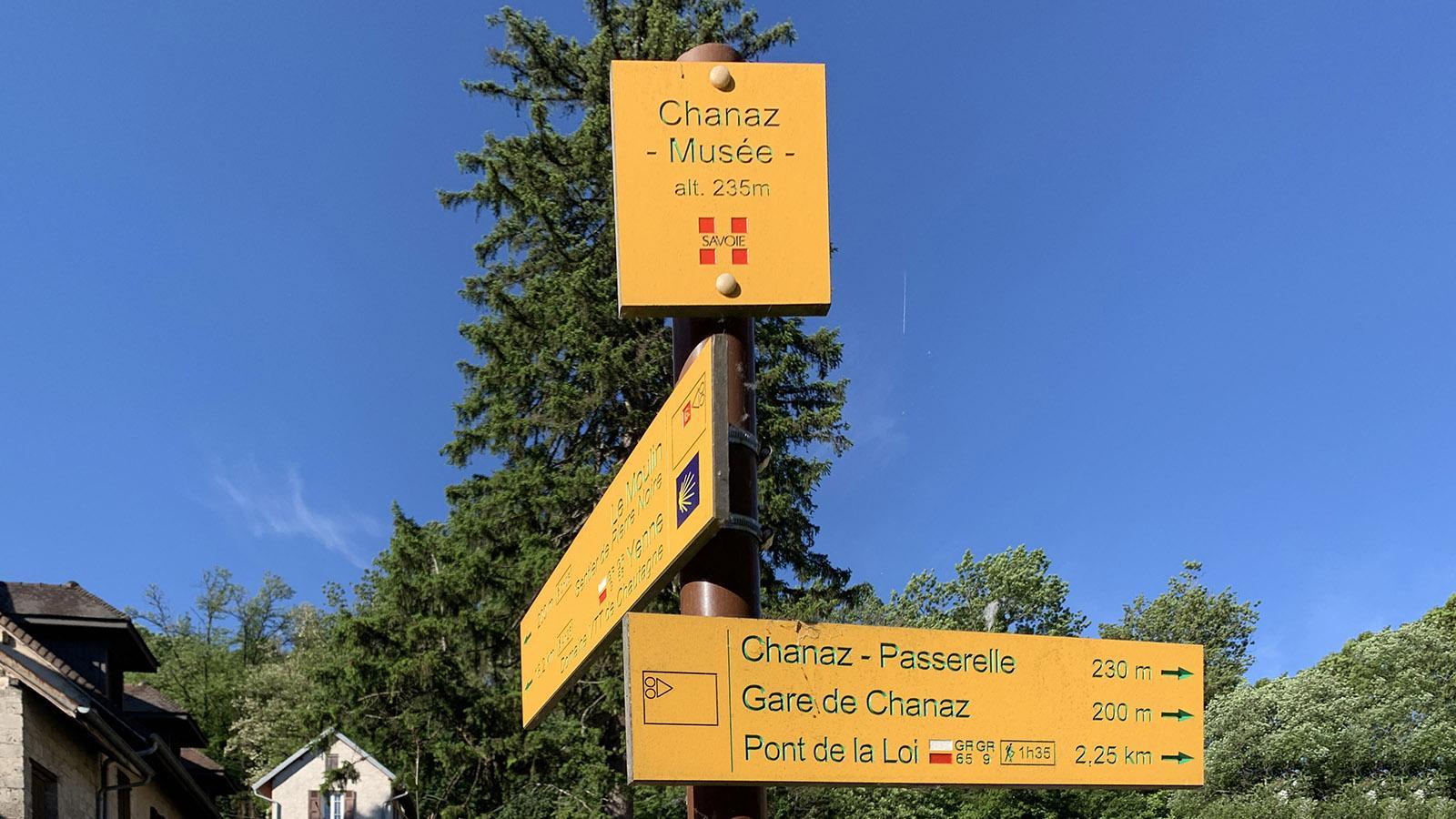 Der Jakobsweg berührt Chanaz ebenso wie der Weitwanderweg GR 65. Foto: Hilke Maunder