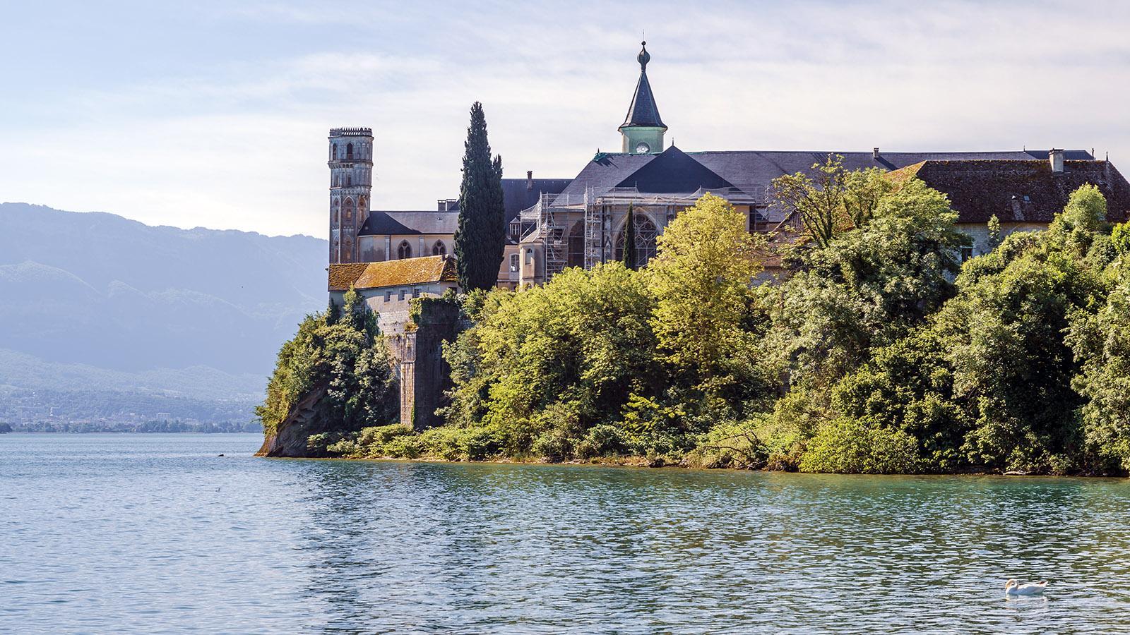 Die Abtei von Hautecombe am Lac du Bourget. Foto: Hilke Maunder