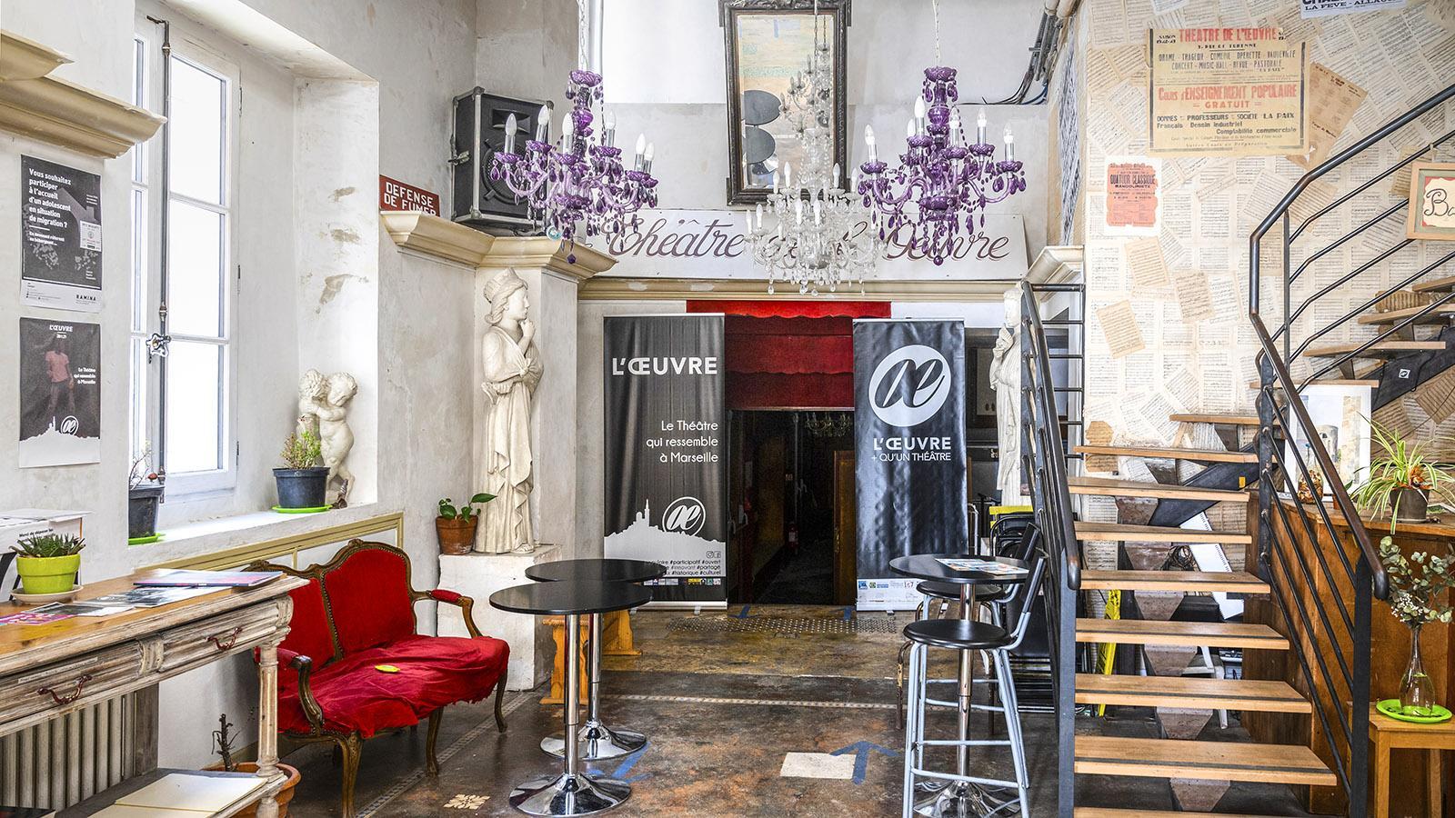 Die Lobby vom Théâtre de L'Œuvre. Foto: Hilke Maunder