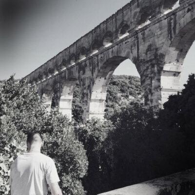 1985 am Pont du Gard. Foto: Dana Mentzel