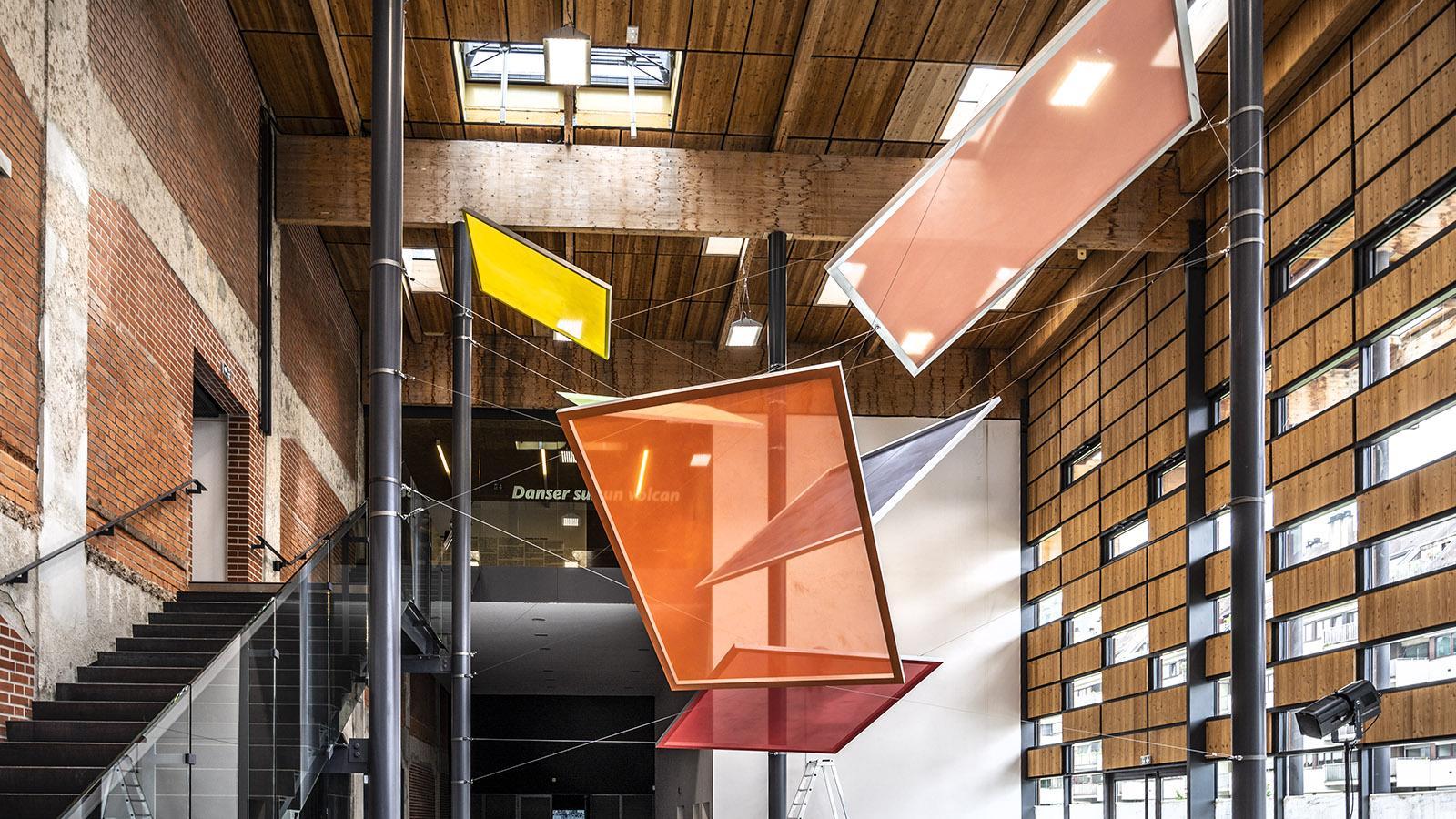 Ein Installation im Foyer des FRAC. Foto: Hilke Maunder