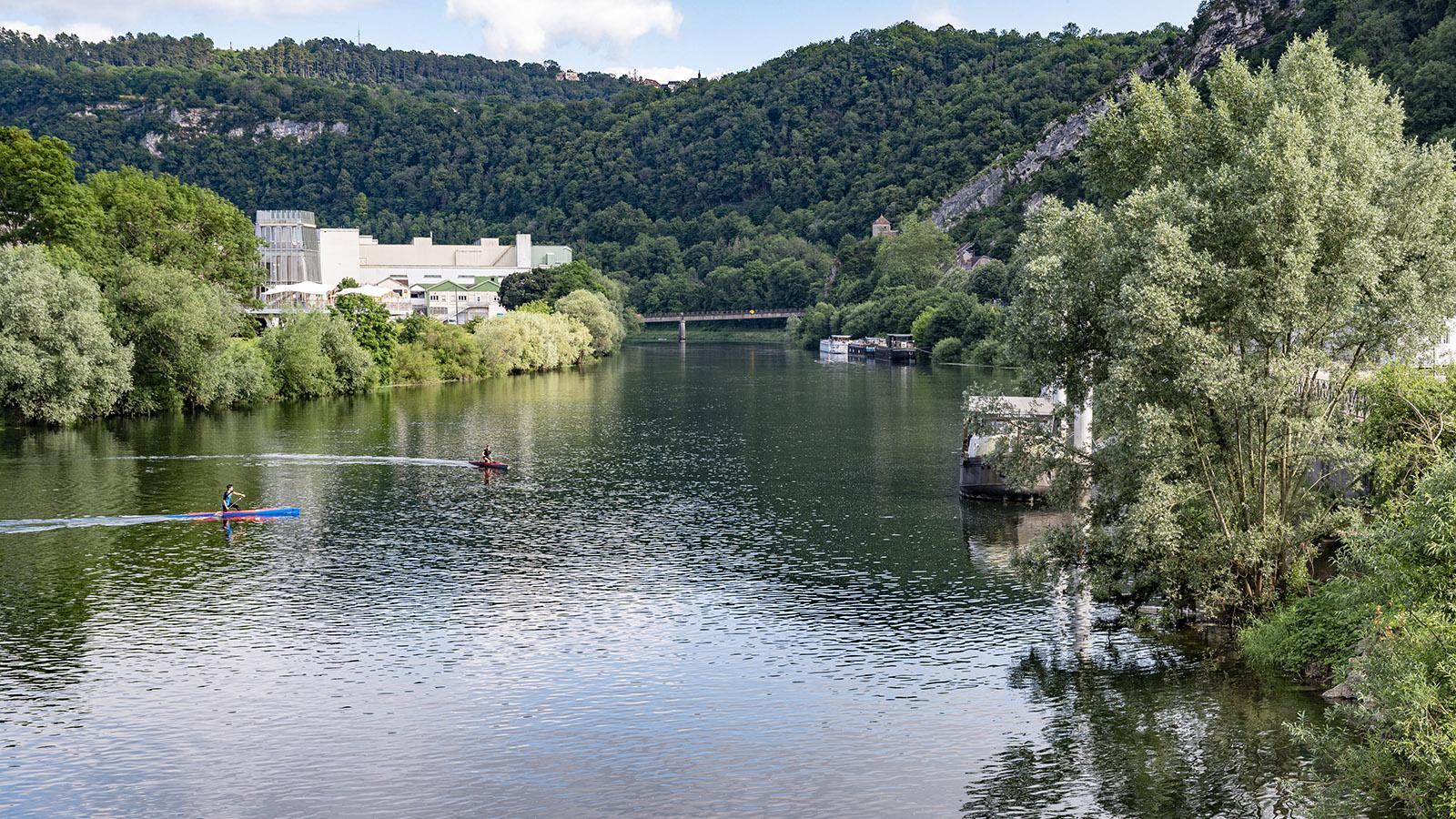 Der Doubs bei Besançon. Foto: Hilke Maunder