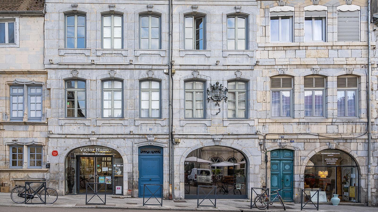 Das Geburtshaus von Victor Hugo in Besançon. Foto: Hilke Maunder