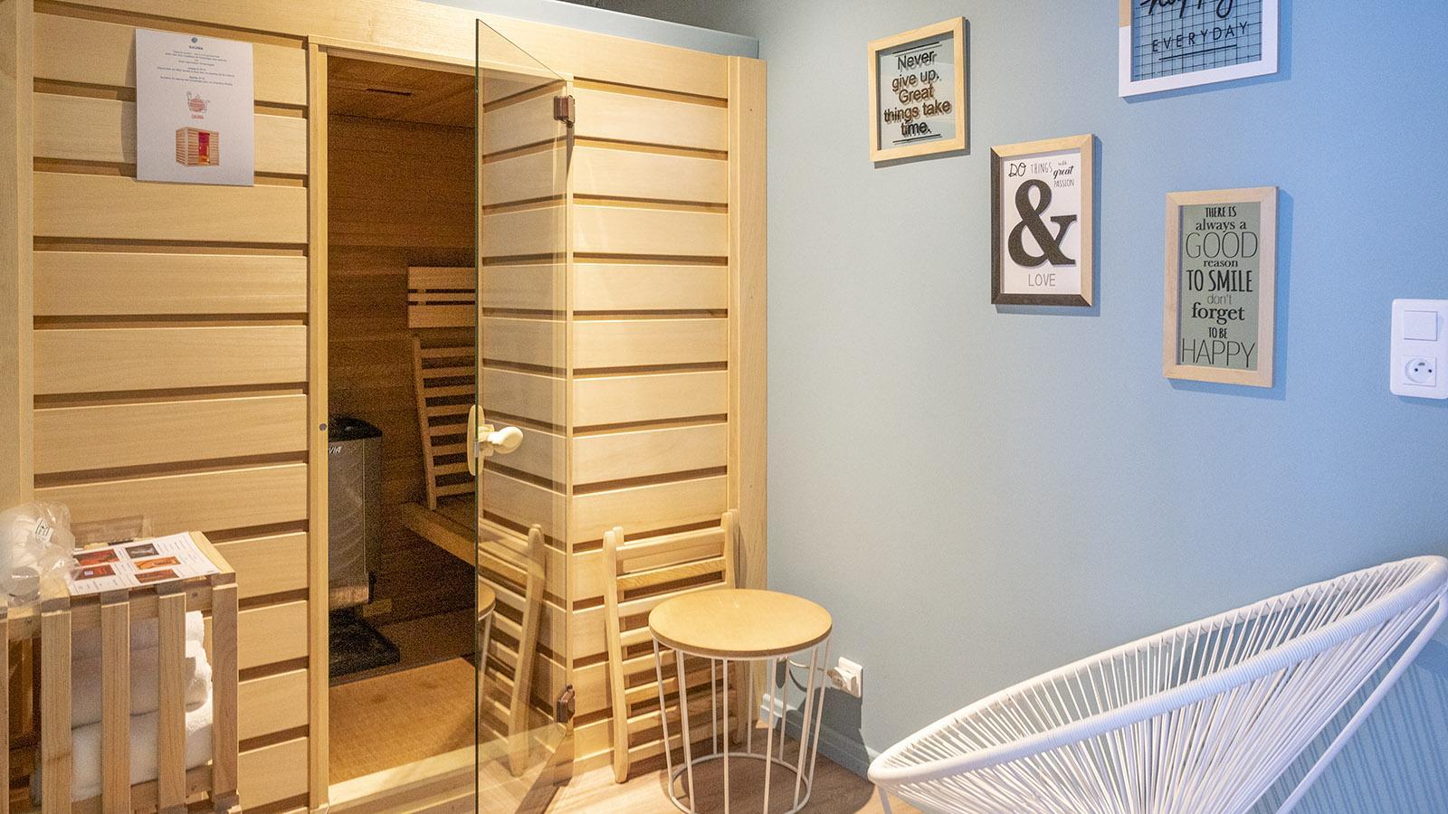 Die Sauna des Erdgeschosszimmers. Foto: Hilke Maunder