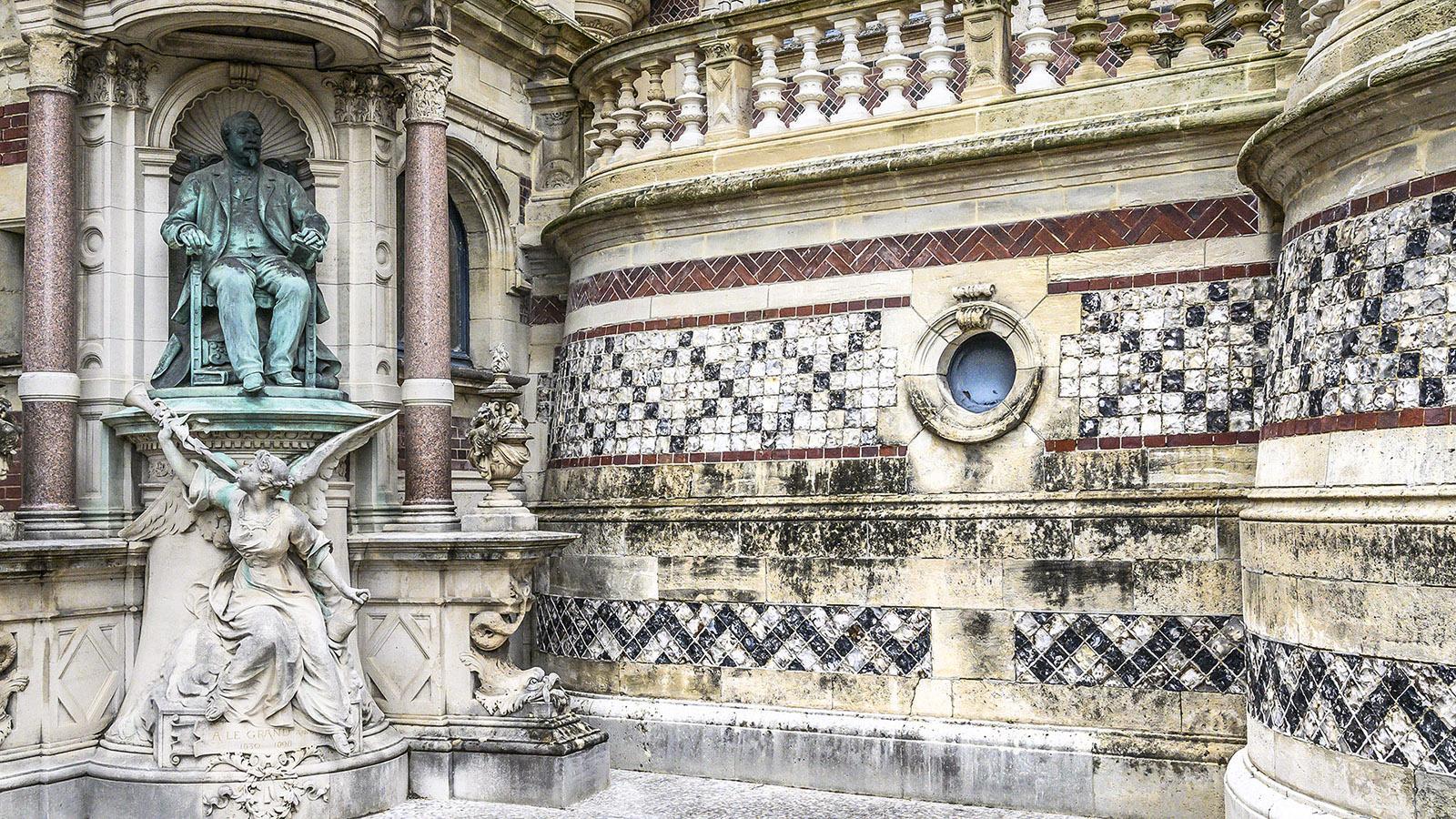 Detail der Fassade des Palais Bénédictine. Foto: Hilke Maunder