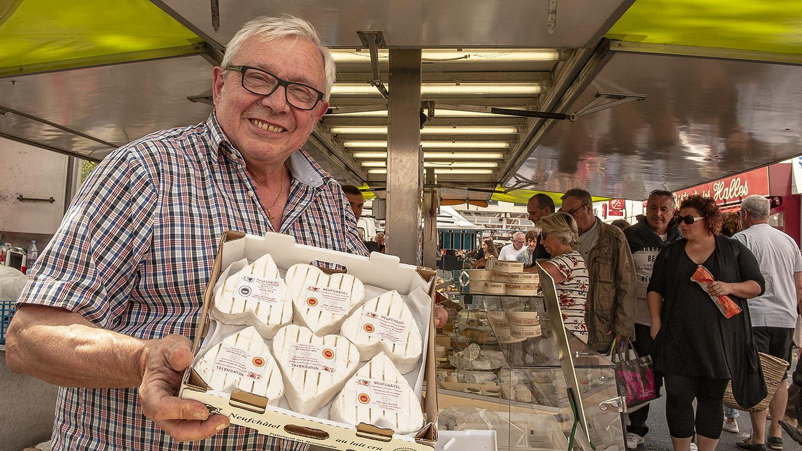 Der Neuchâtel-Käse zeigt Herz. Foto: Hilke Maunder
