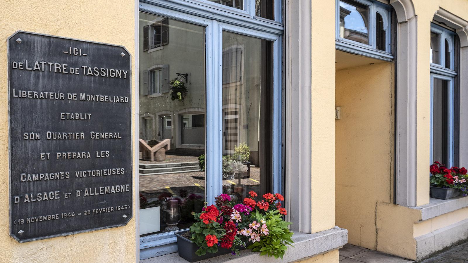 Auch Lattre de Tassigny, der Befreier von Montbéliard, logierte im Hôtel La Balance. Foto: Hilke Maunder