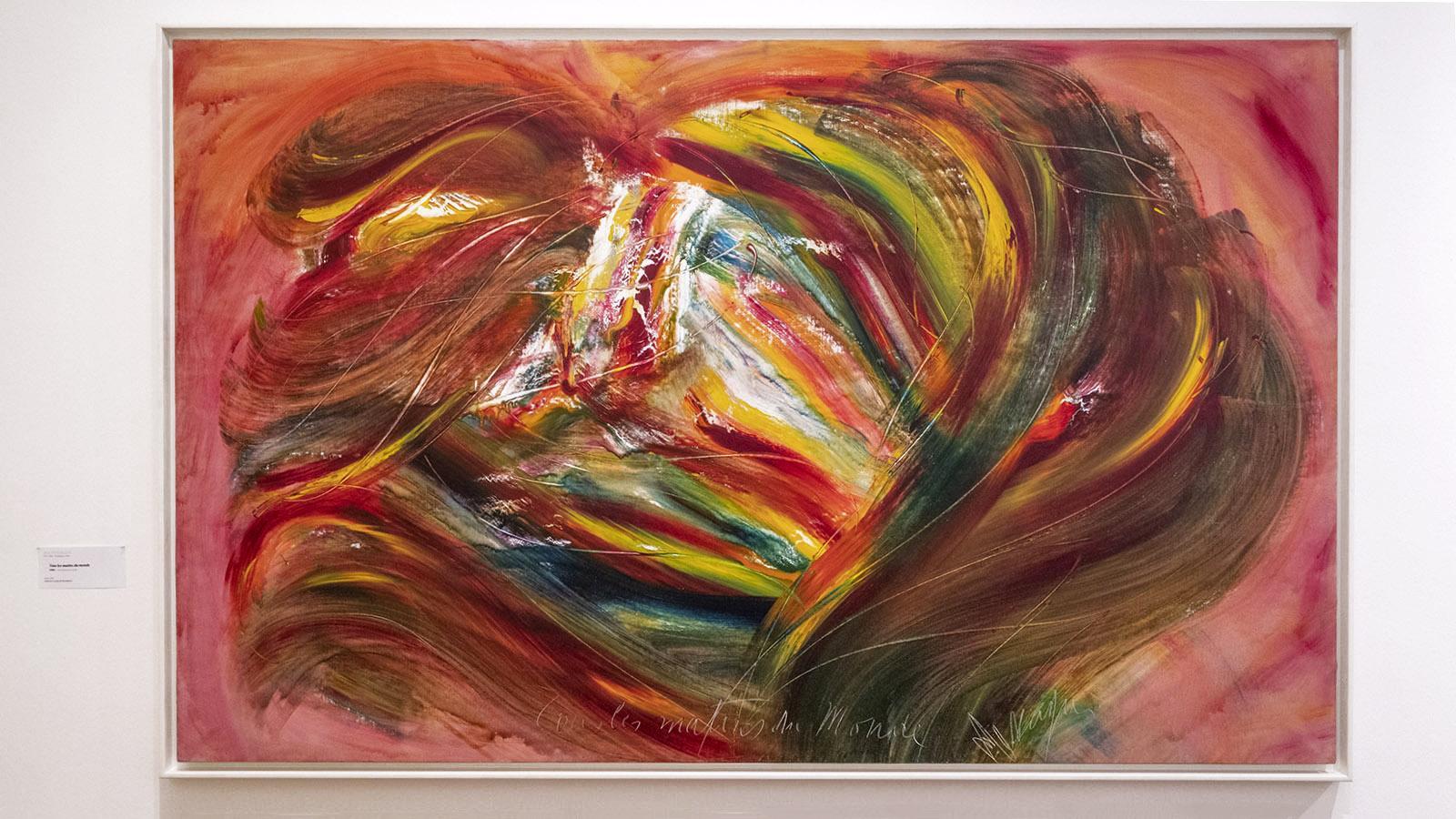 <em>Tous les matins du monde</em> heißt dieses Gemälde von Jean Messagier. Foto: Hilke Maunder
