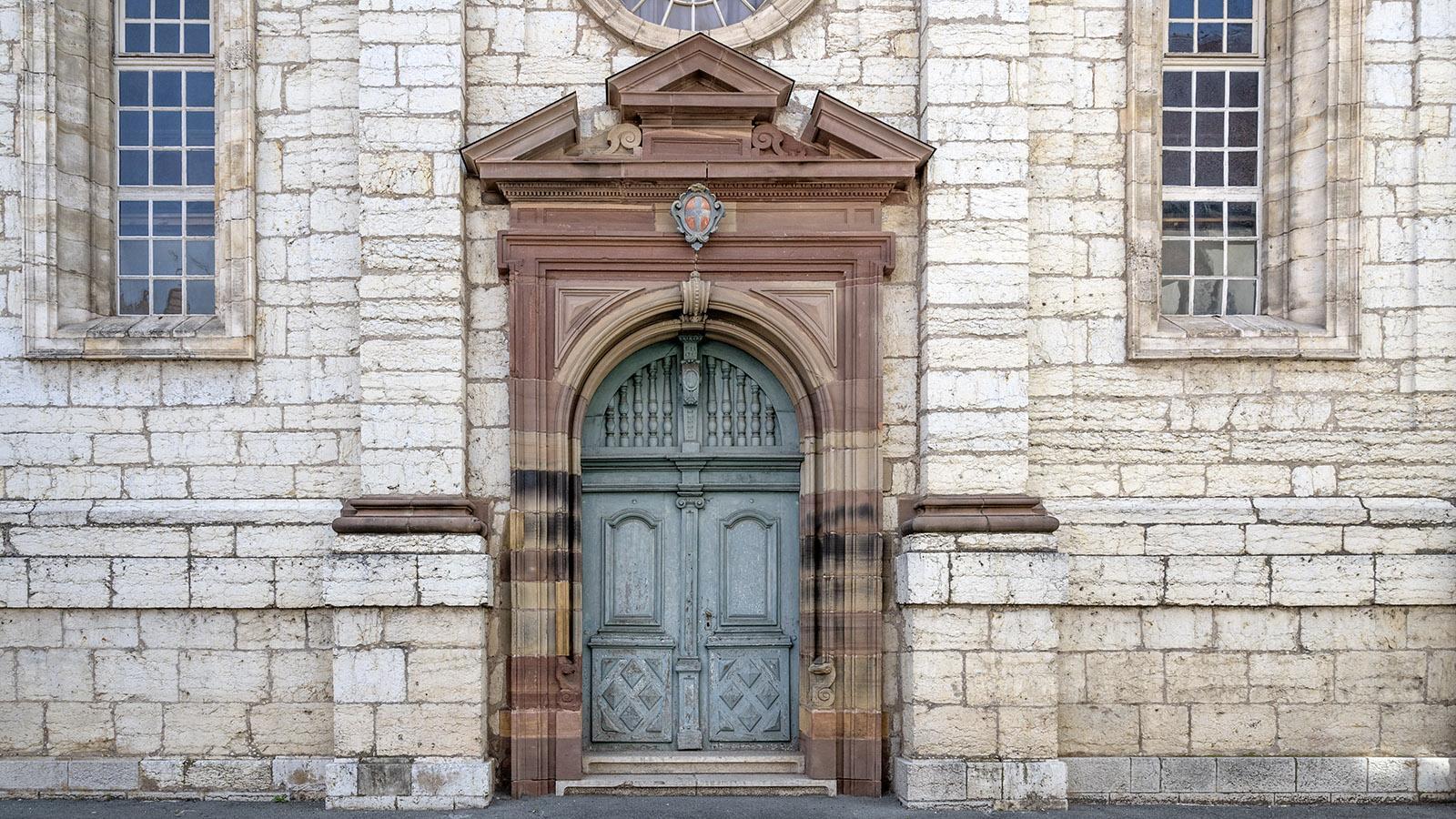 Der Eingang zum <em>temple Saint-Martin</em>. Foto: Hilke Maunder