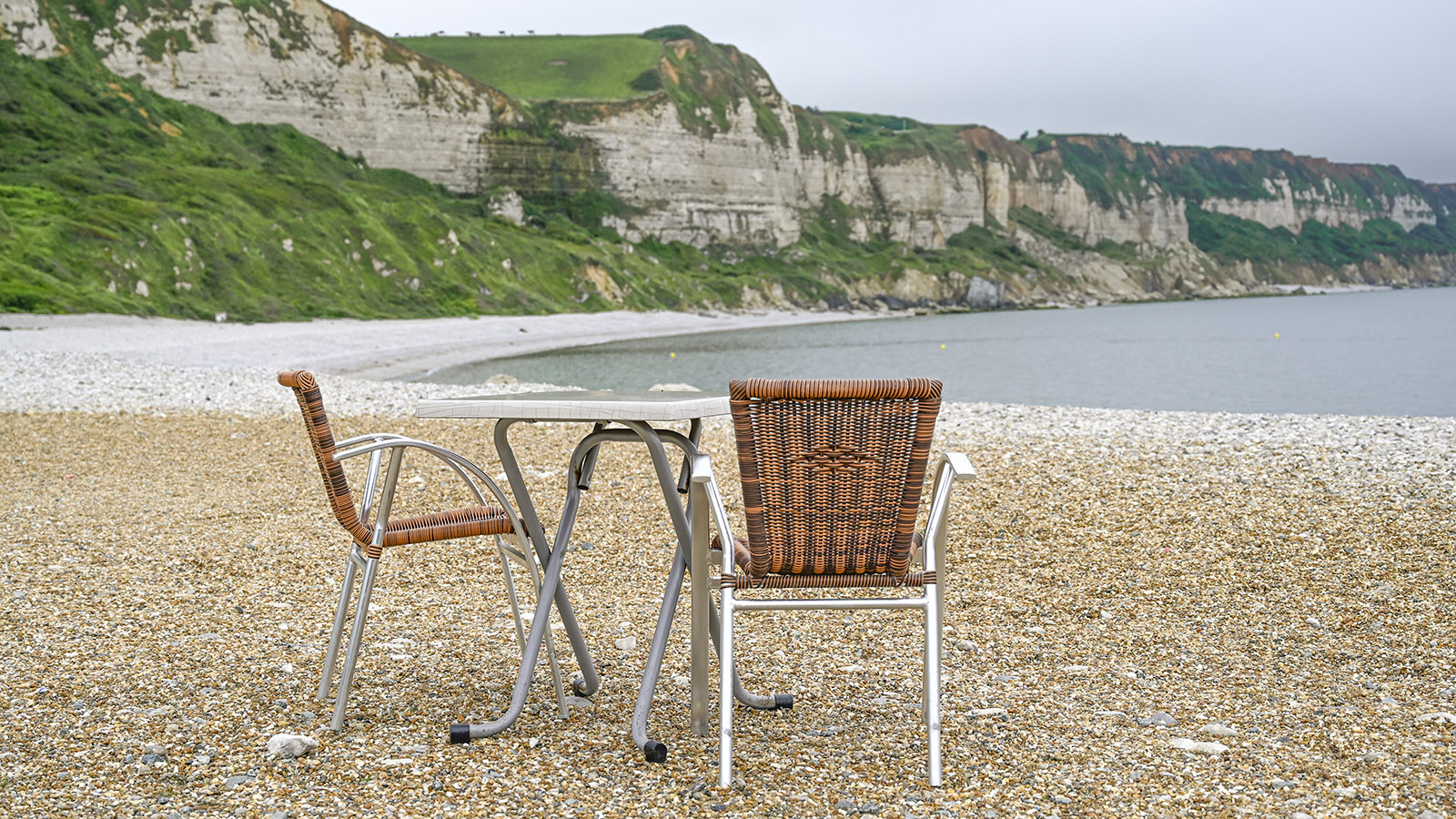 Direkt am Strand von Saint-Jouin: La Friterie d'Or. Foto: Hilke Maunder