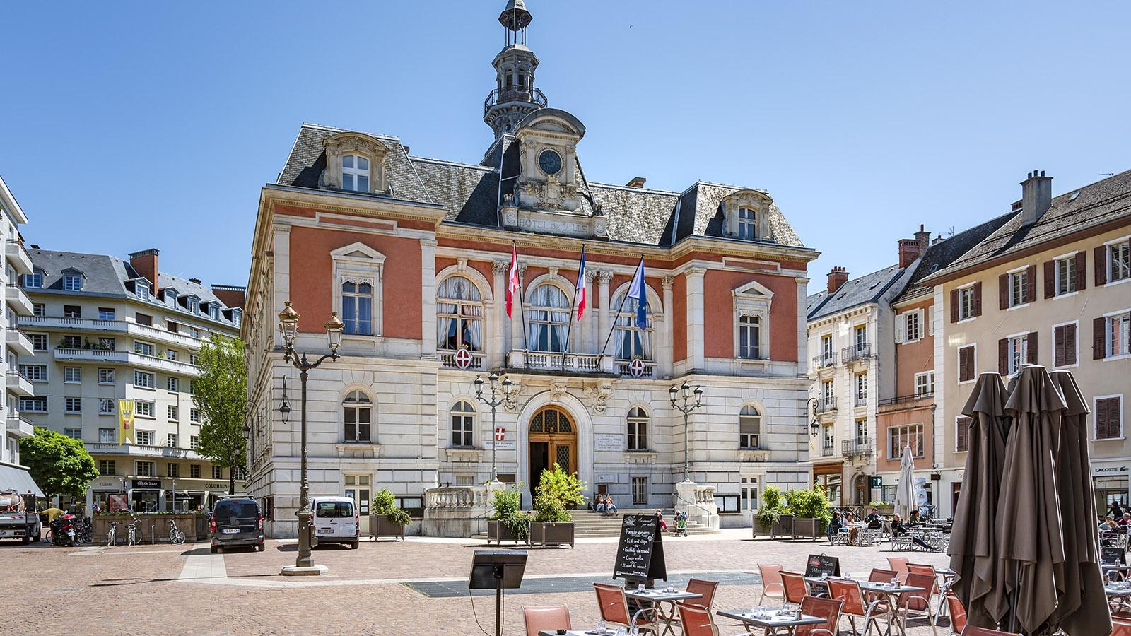 Das <em>Hôtel de Ville/em> von Chmabéry. Foto. Hilke Maunder