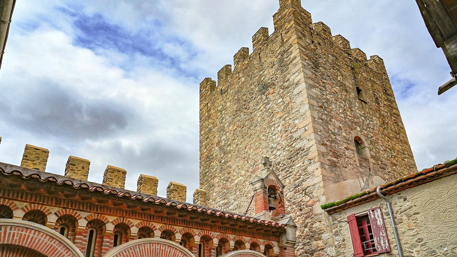 Der quadratische Hauptturm. Foto: Hilke Maunder