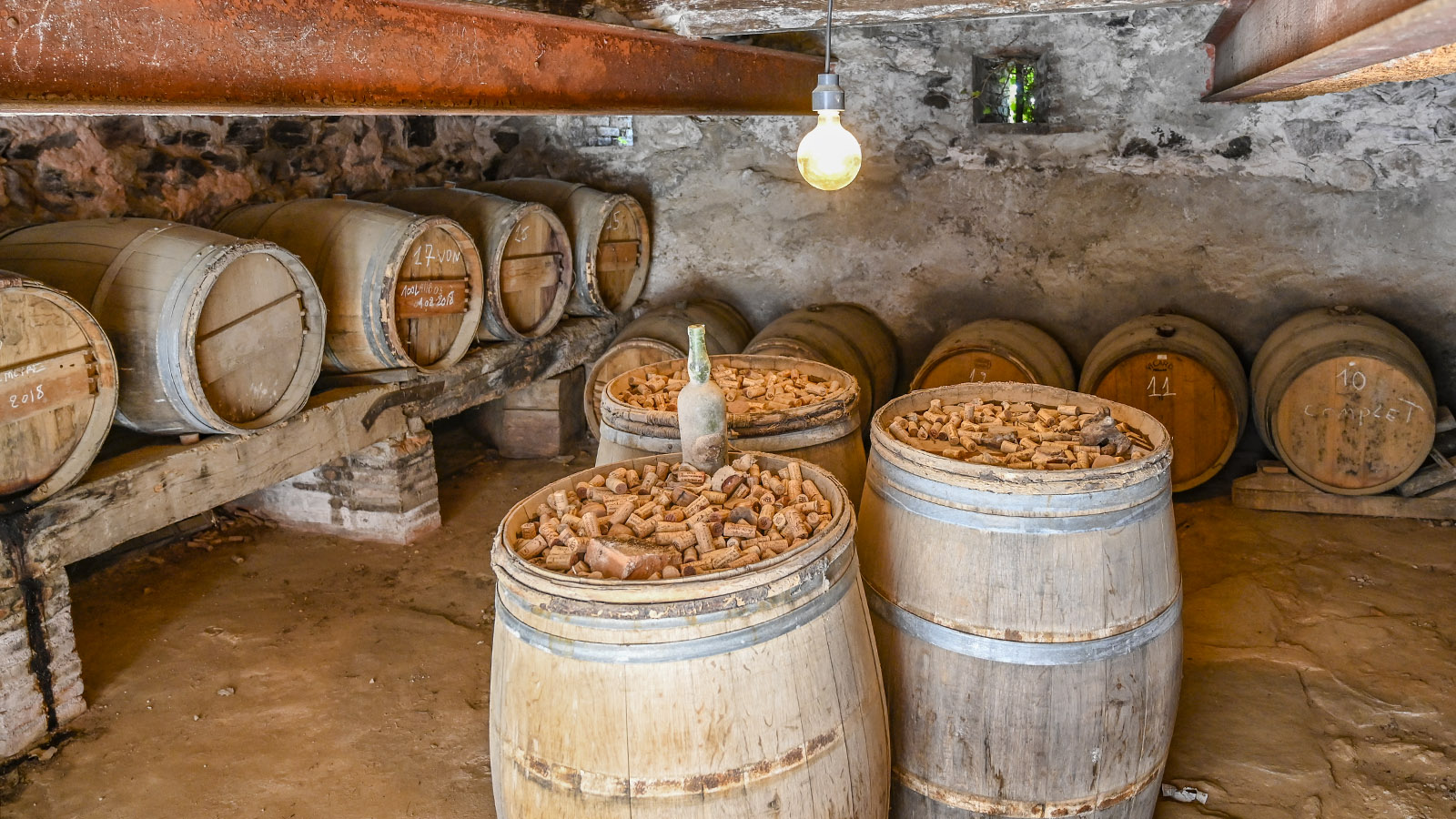 Der Weinkeller in der ehemaligen Kapelle. Foto: Hilke Maunder
